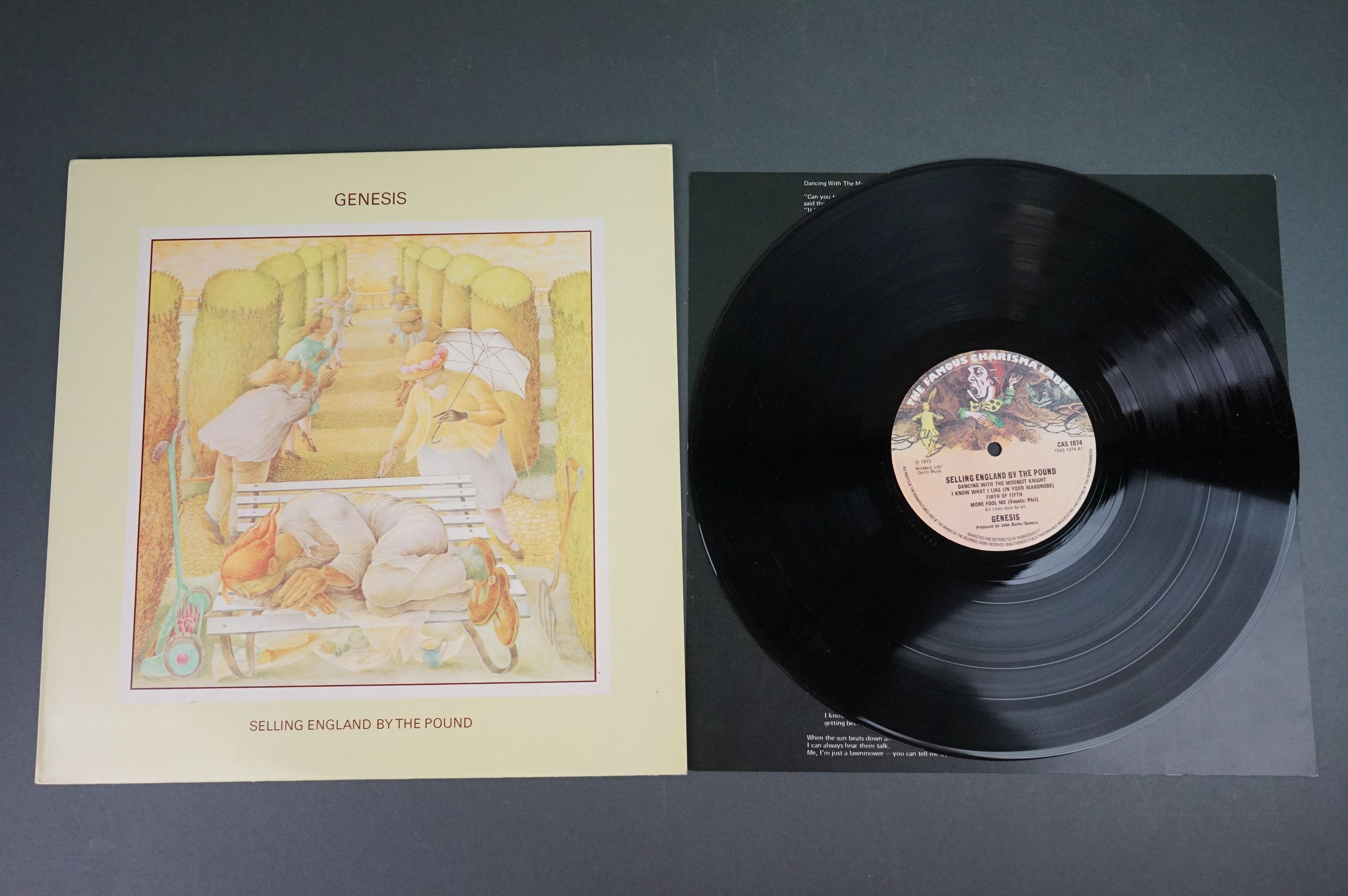 Vinyl - Five Genesis LPs to include Trespass (CAS1020), Nursery Cryme (CAS1052), Foxtrot ( - Image 8 of 9