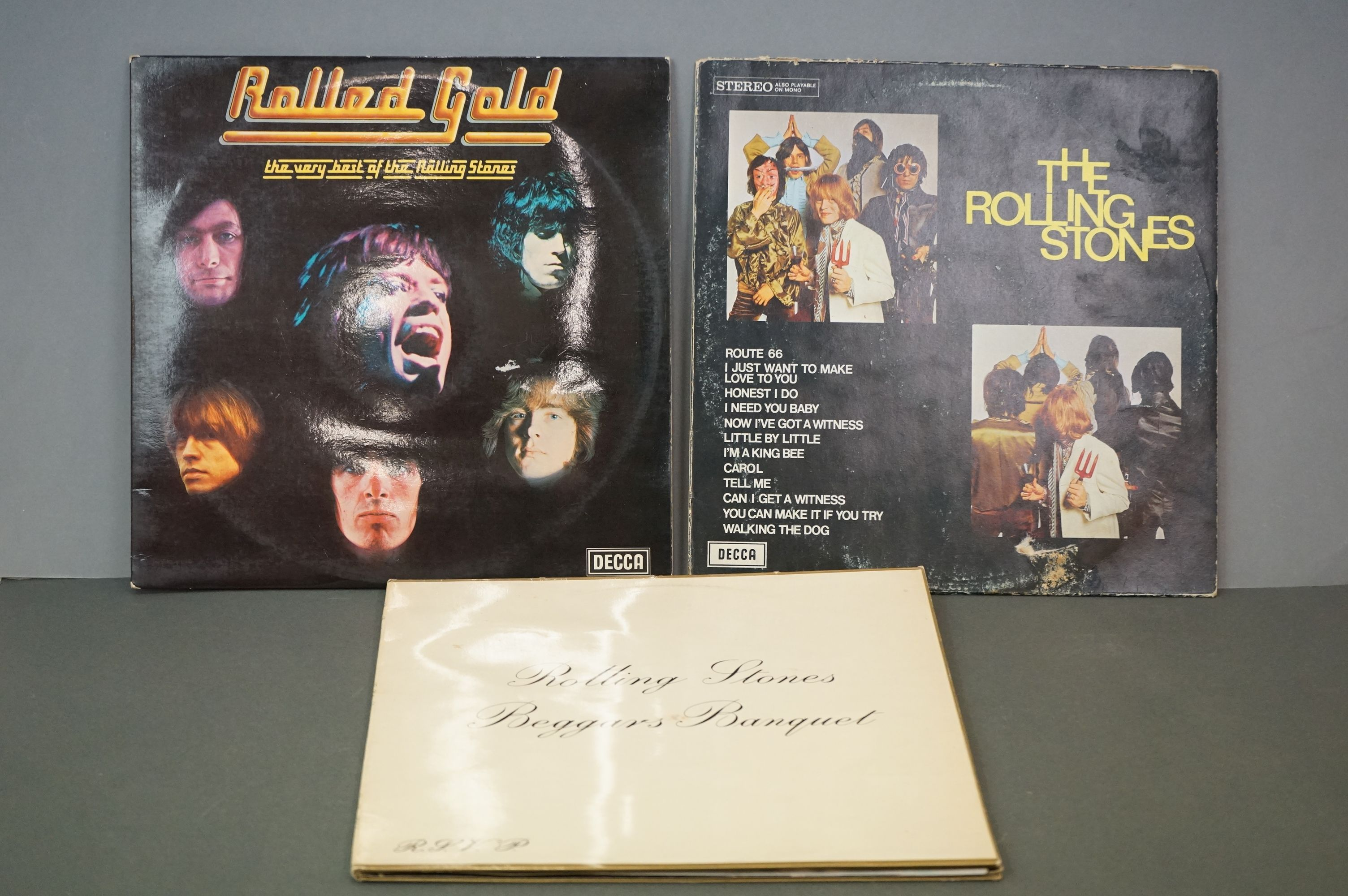 Vinyl - Rolling Stones 3 LP's to include Rolled Gold and Self Titled (both Dutch pressings), and