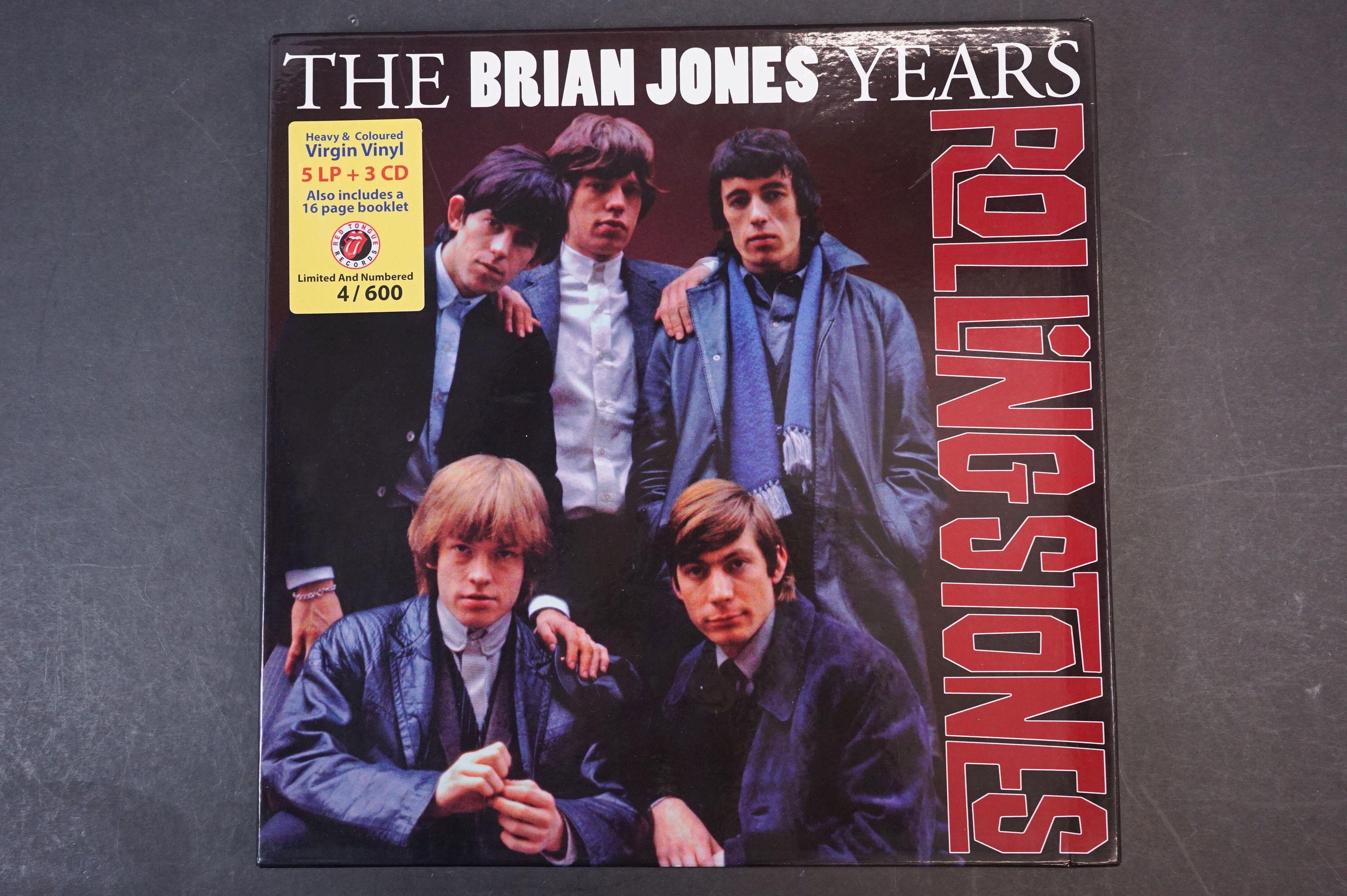 Vinyl - ltd edn The Rolling Stones The Brian Jones Years 5 LP / 3 CD Box Set RTR019, heavy