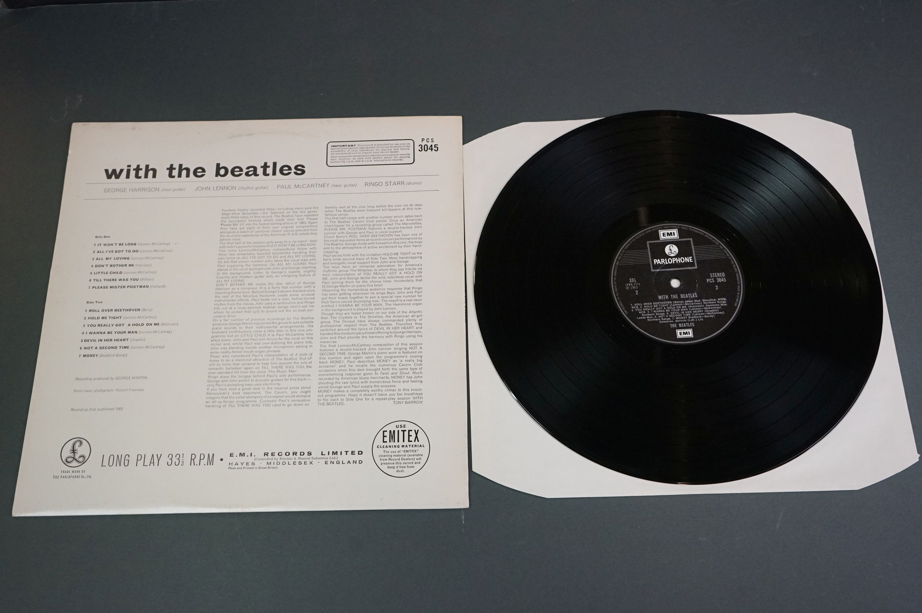 Vinyl - The Beatles With The Beatles x 2 copies to include PMC 1206, The Parlophone Co Ltd to - Image 6 of 6