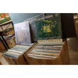 Vinyl - Over 200 LPs spanning the genres to include Status Quo, Country, MOD etc, sleeves and