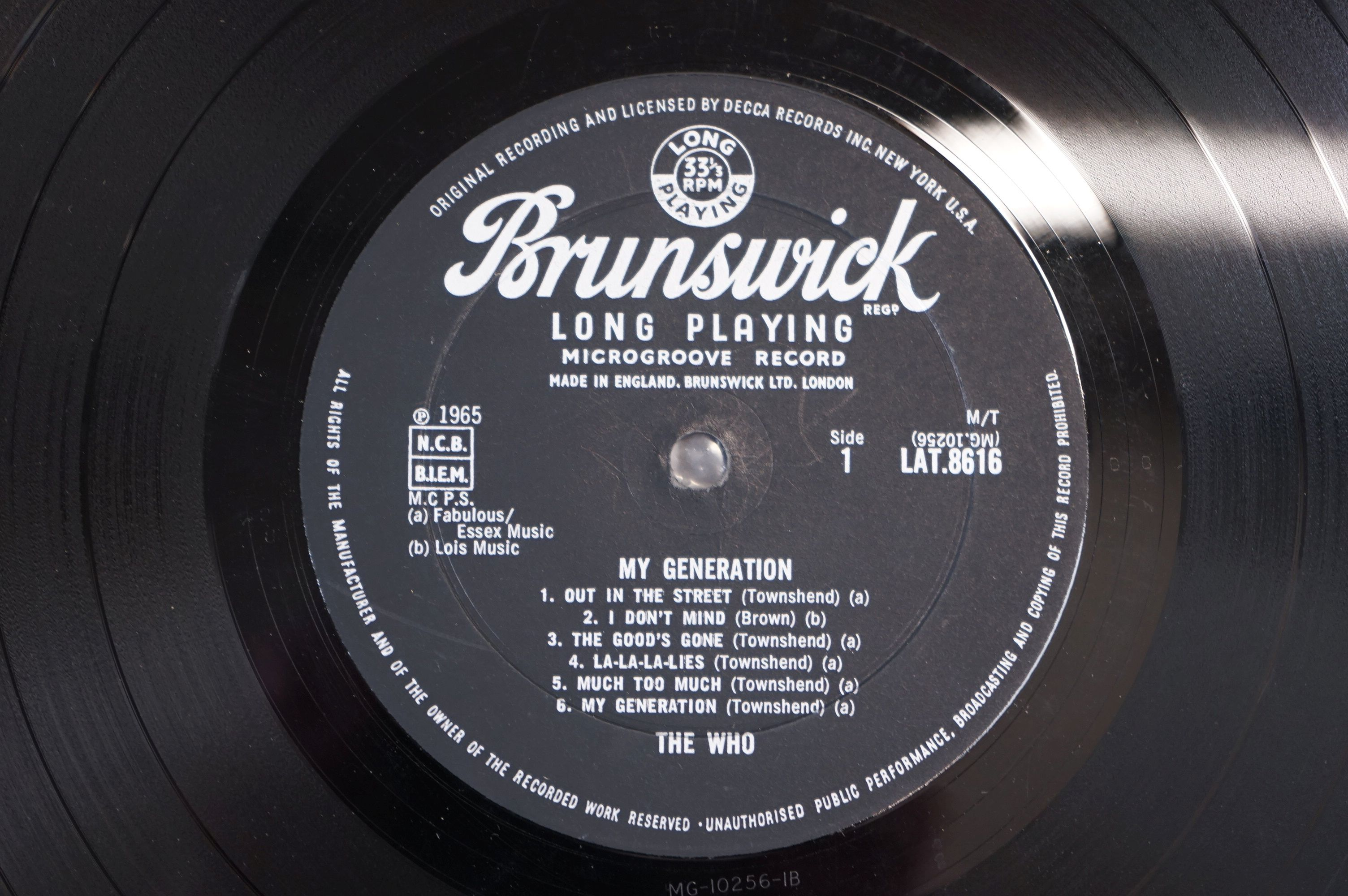 Vinyl - The Who My Generation LP on Brunswick LAT8616 mono with laminated front sleeve, silver & - Image 3 of 8