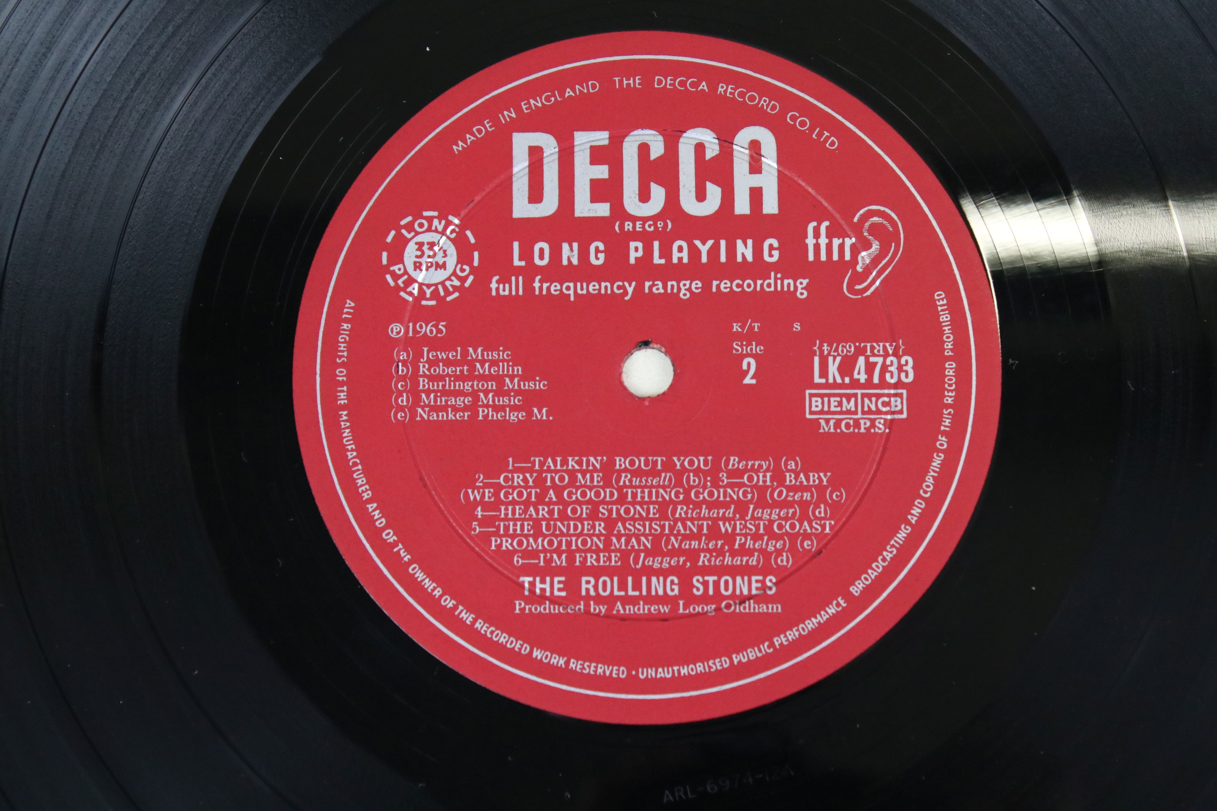 Vinyl - The Rolling Stones Out Of Our Heads (Decca LK 4733) mono, non flipback sleeve by Robert - Image 4 of 4