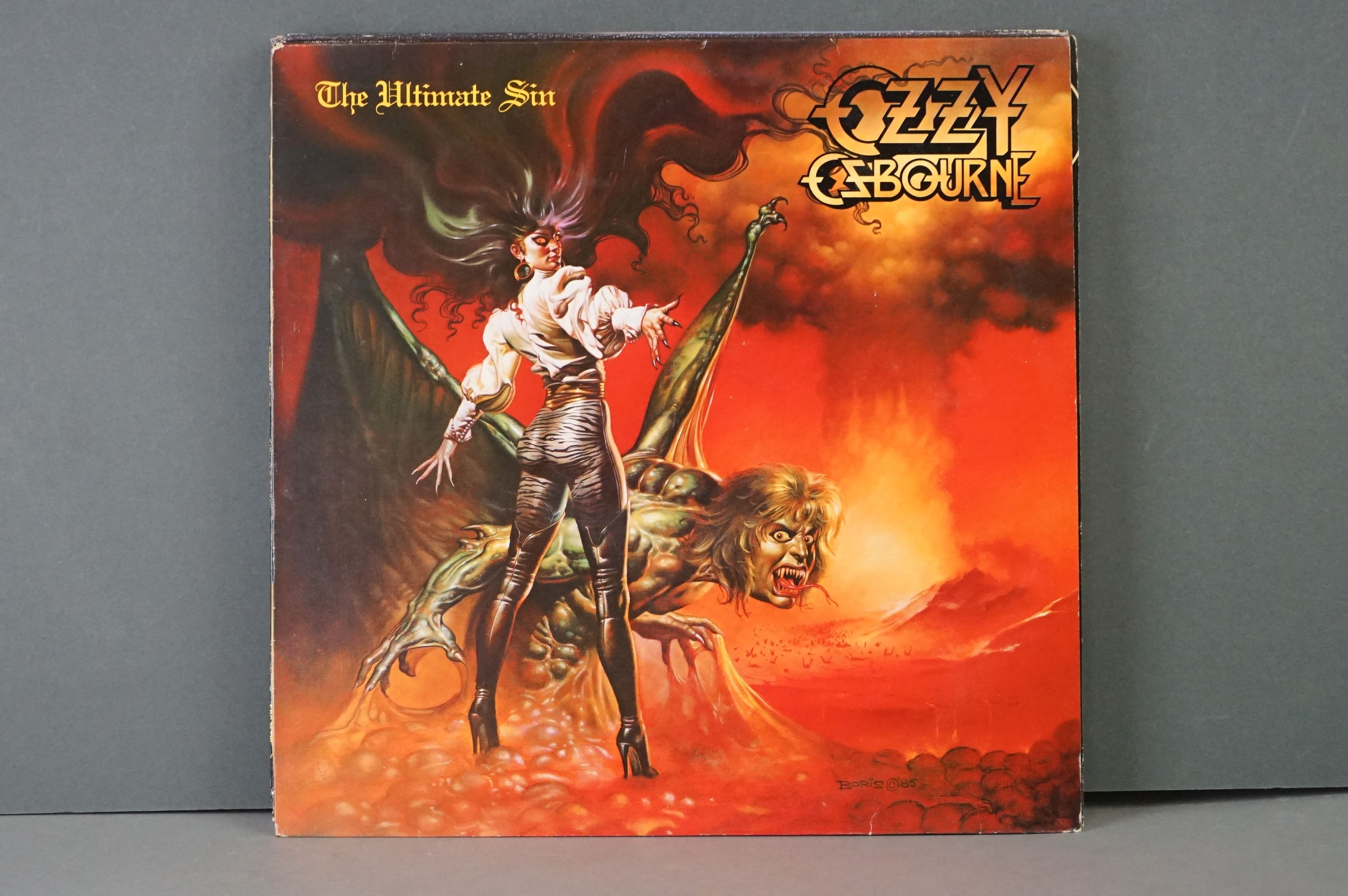 Vinyl - Six Ozzy Osbourne vinyl LP's to include The Ultimate Sin (Epic Records 26404), Live E.P. ( - Image 3 of 8