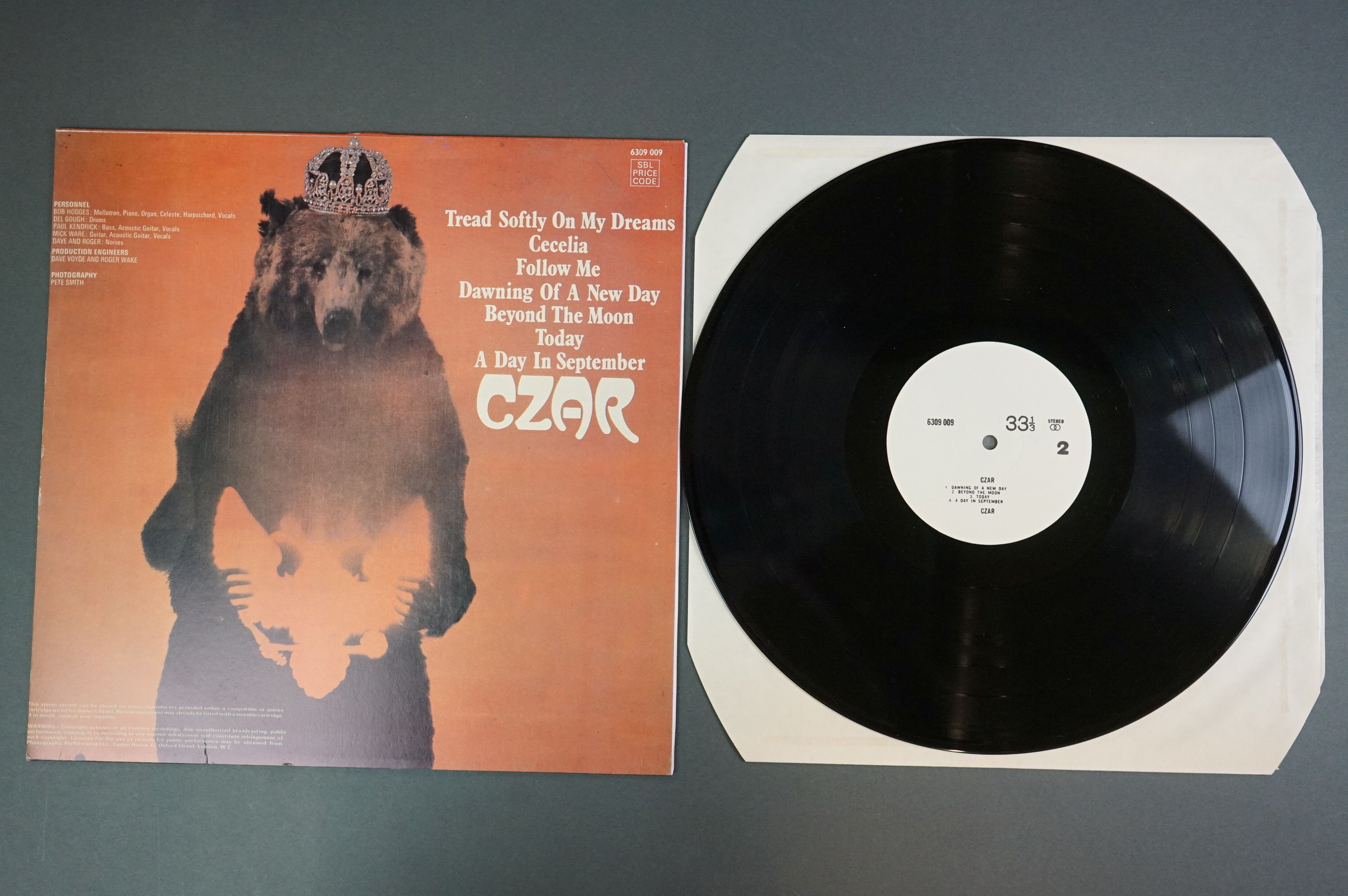 Vinyl - Czar self titled 6360009 unofficial release white album, with titles 33 and one third and - Image 3 of 3