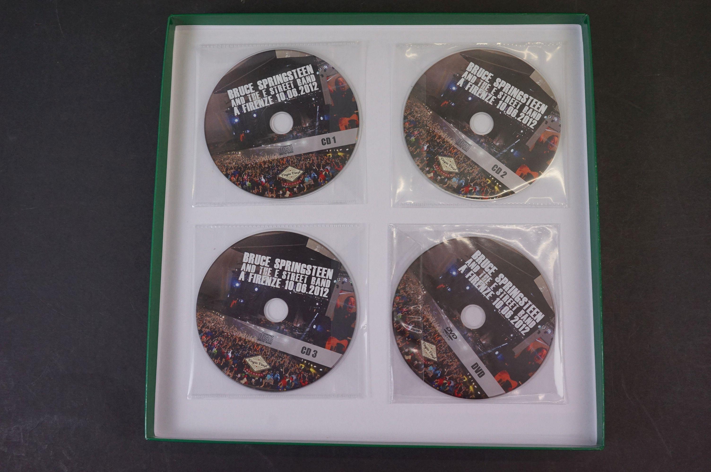 Vinyl - ltd edn Bruce Springsteen and The E Street Band A Firenze 10.06.2012 5 LP 3 CD 1 DVD heavy - Image 2 of 10