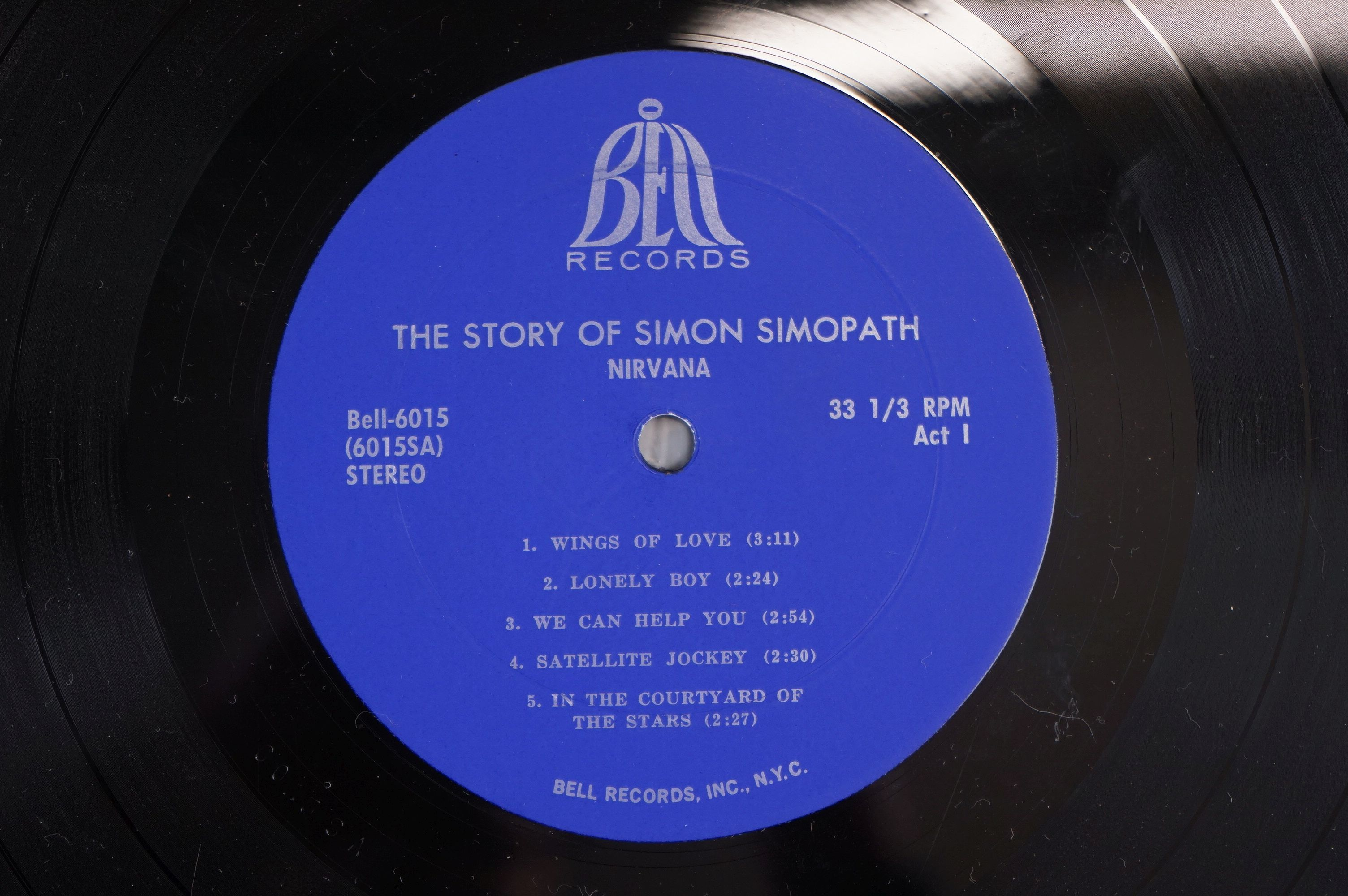 Vinyl - Two Nirvana LPs to include The Story of Simon Simopath LP on Bell Records 6015-S Stereo, - Image 4 of 13