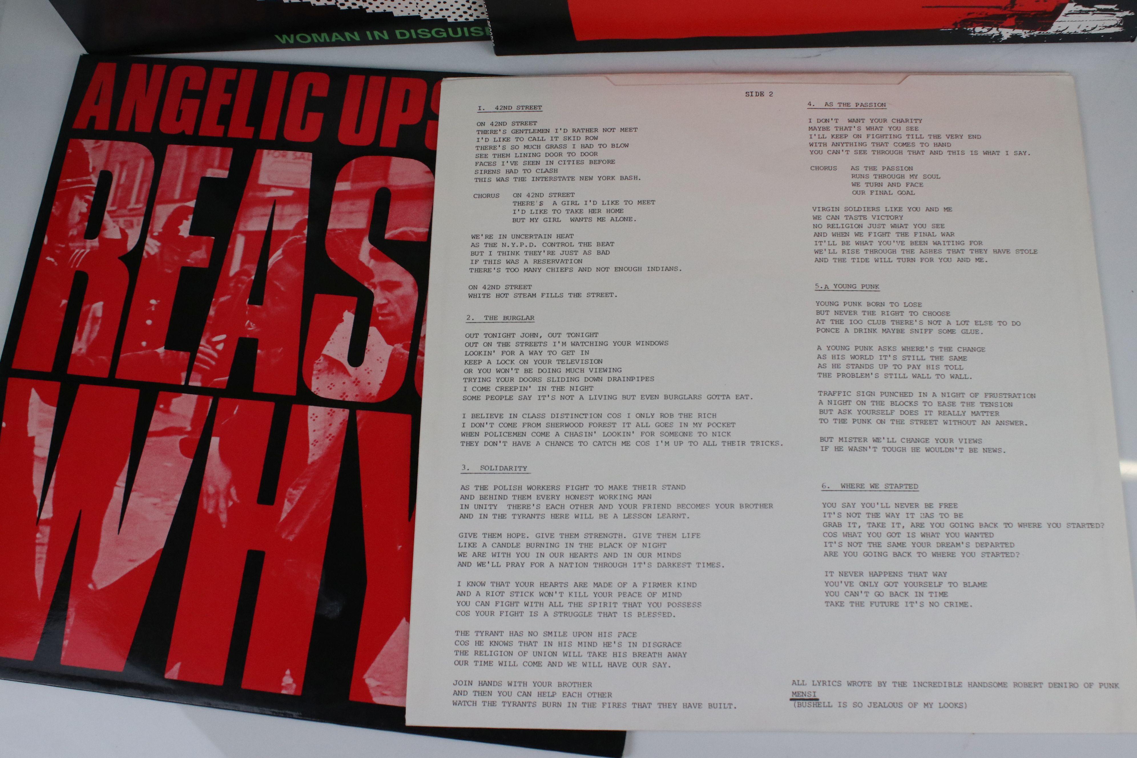 "Vinyl - Punk - Angelic Upstarts - Reason Why? LP plus 2 x 12"" singles (Solidarity & Woman In - Image 2 of 5"