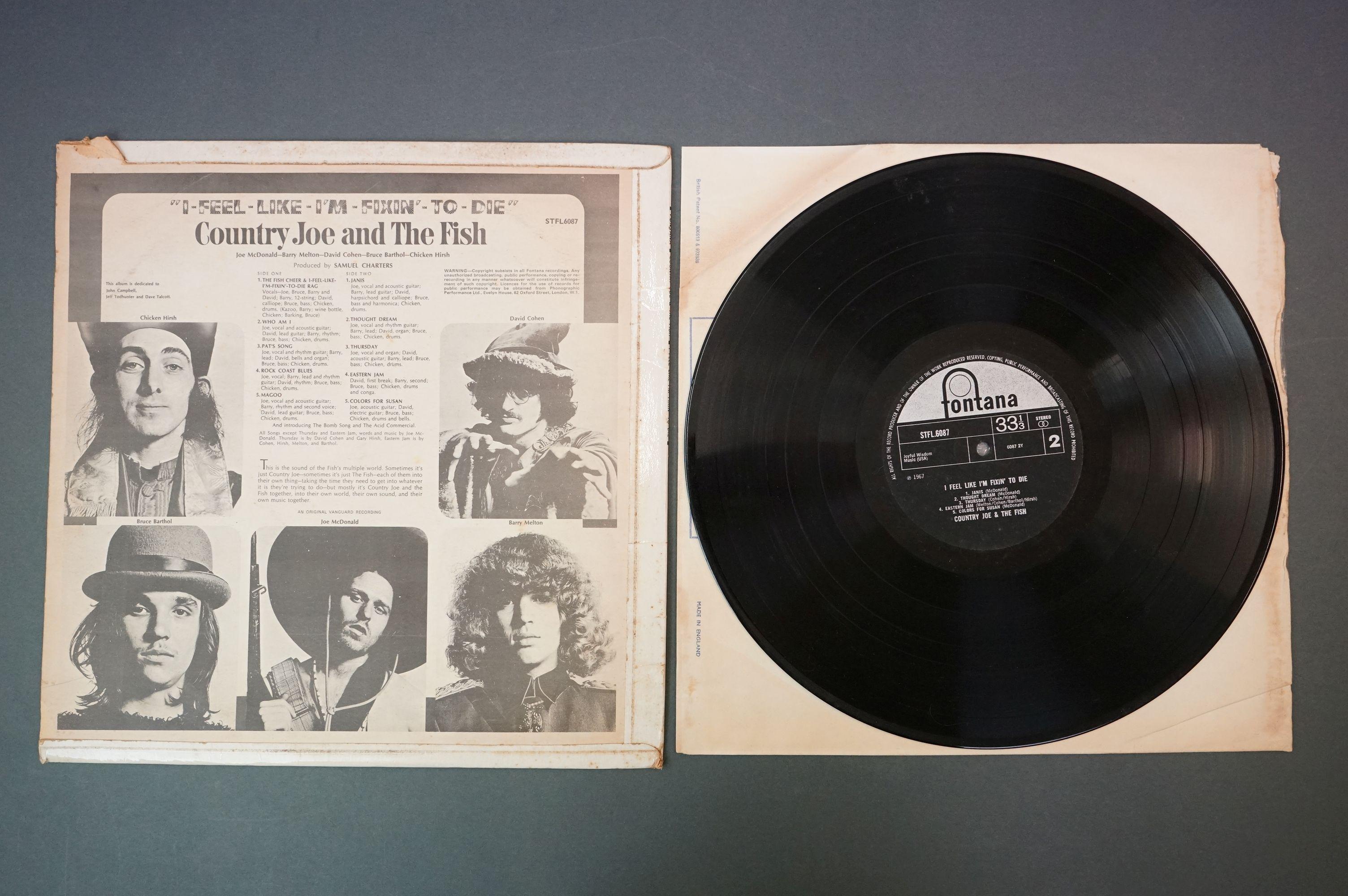 Vinyl - Country Joe and The Fish, I Feel Like I'm Fixin' To Die, Fontana STFL 6087, flip back - Image 3 of 4