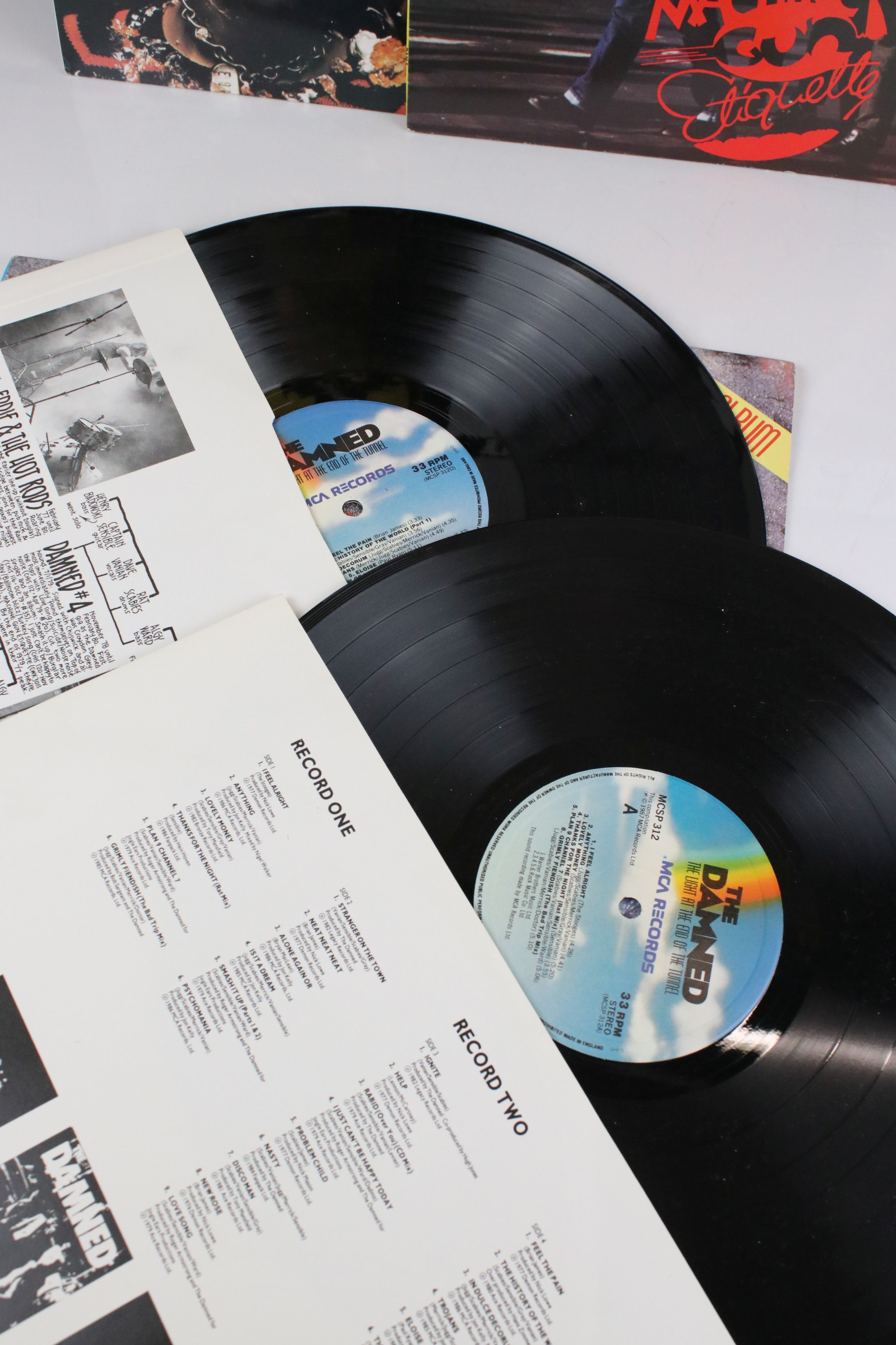 Vinyl - The Damned - Two reissue LPs to include Damned Damned Damned & Machine Gun Etiquette plus - Image 2 of 4