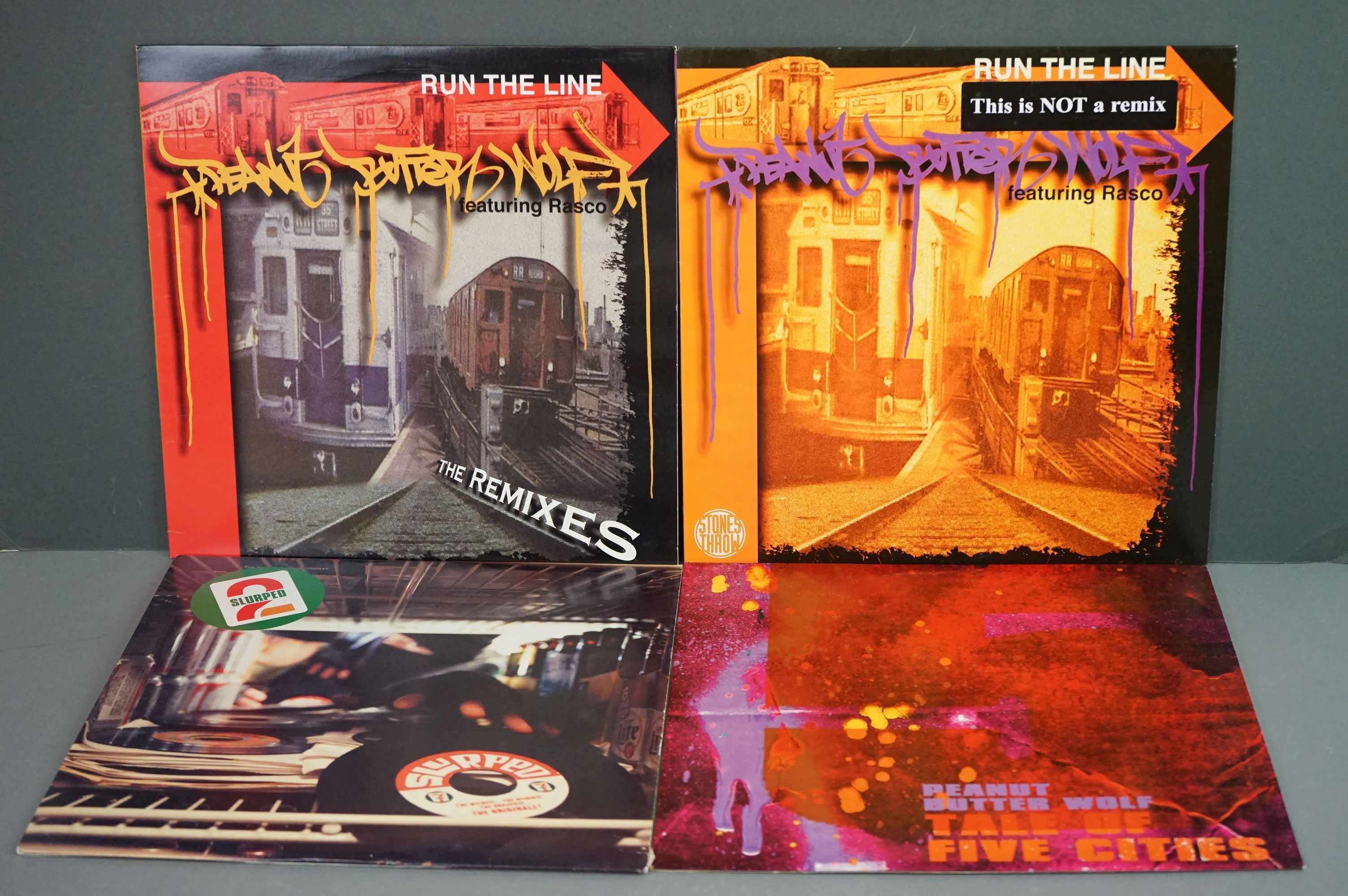 """Vinyl - Slurped Too! 2LP Compilation and 3 x Peanut Butter Wolf 12"""" singles to include Run The"""
