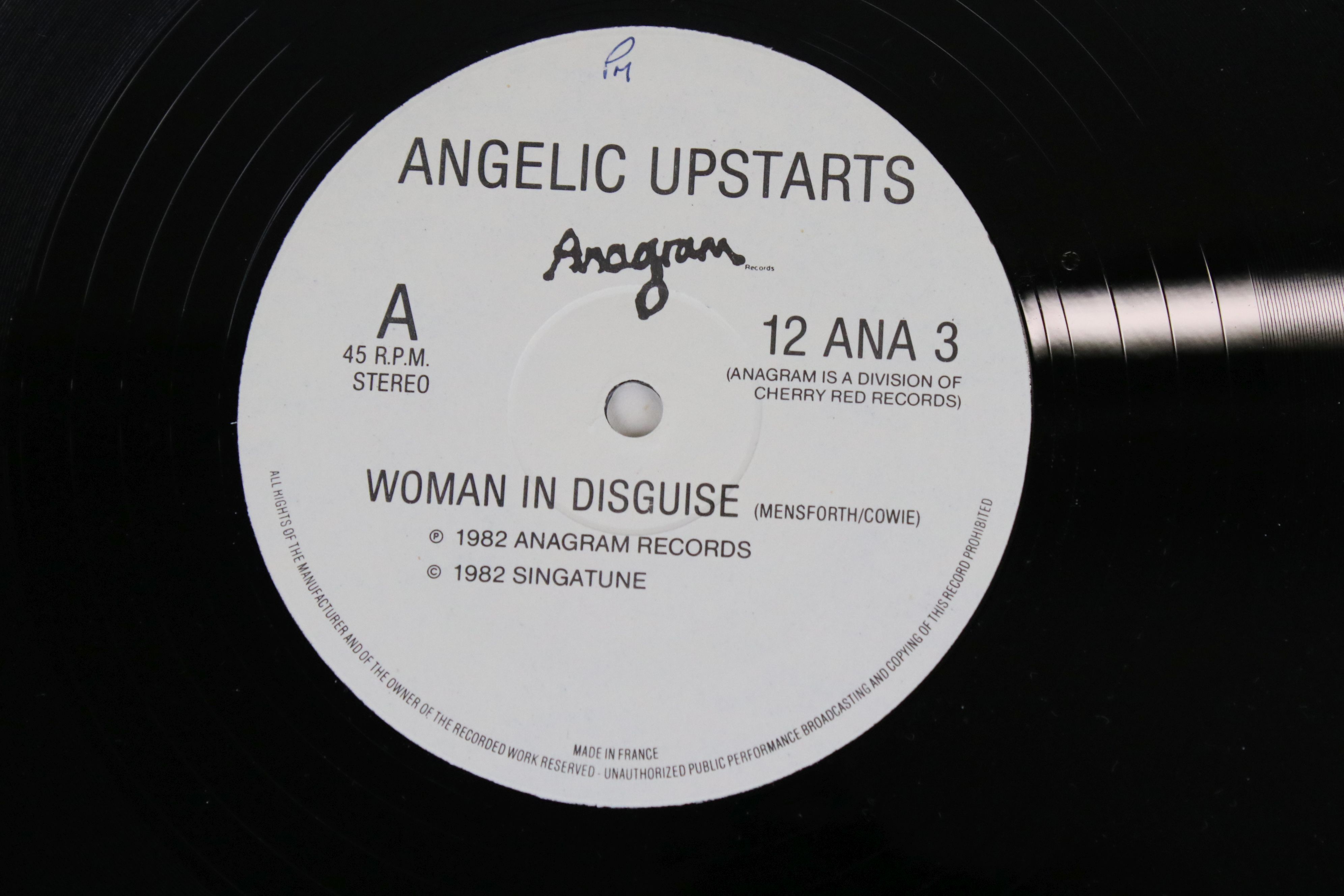 "Vinyl - Punk - Angelic Upstarts - Reason Why? LP plus 2 x 12"" singles (Solidarity & Woman In - Image 5 of 5"