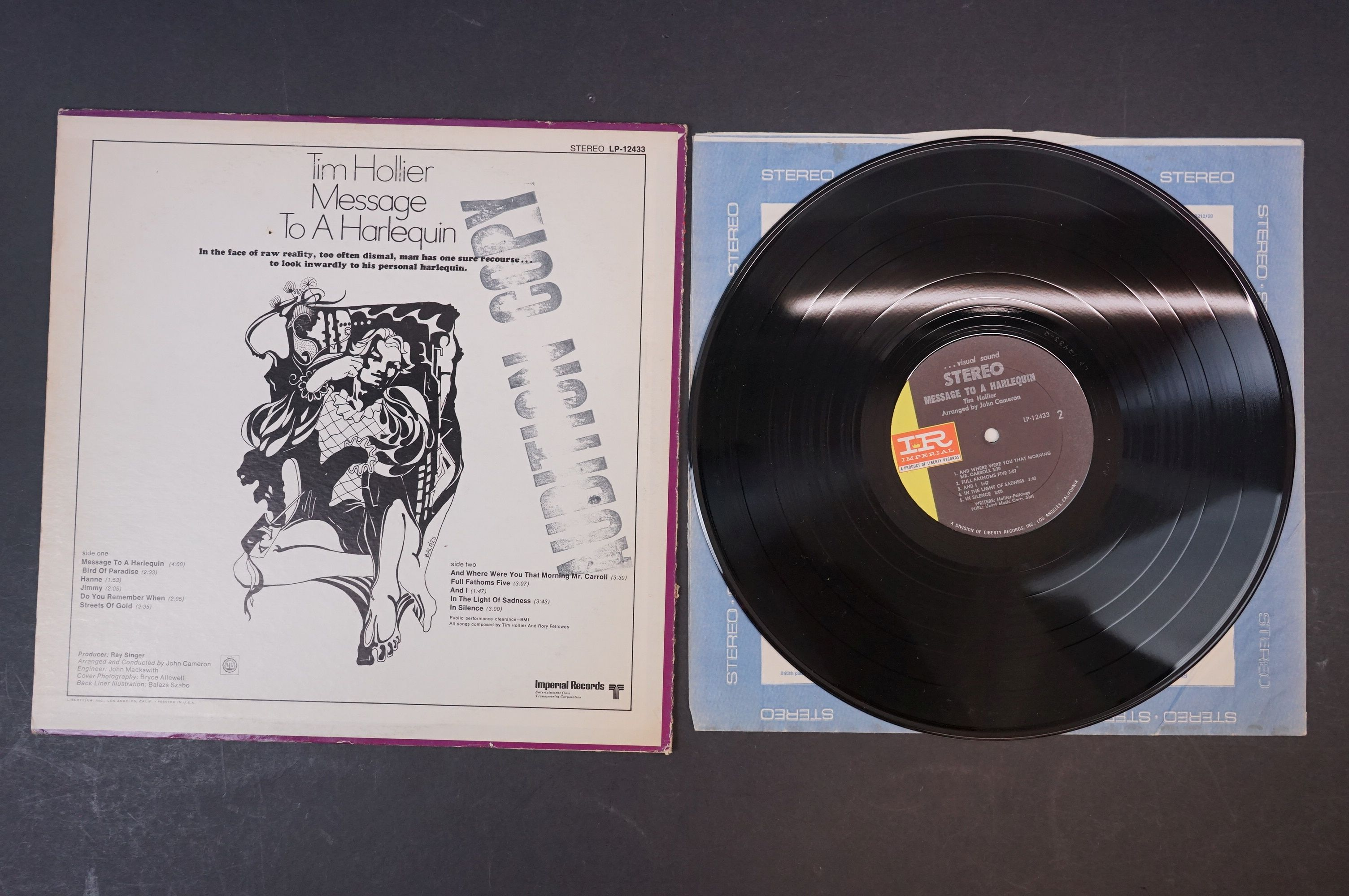 Vinyl - Acid Folk / Psych - Tim Hollier, Three scarce original pressing albums to include ?? - Image 7 of 7