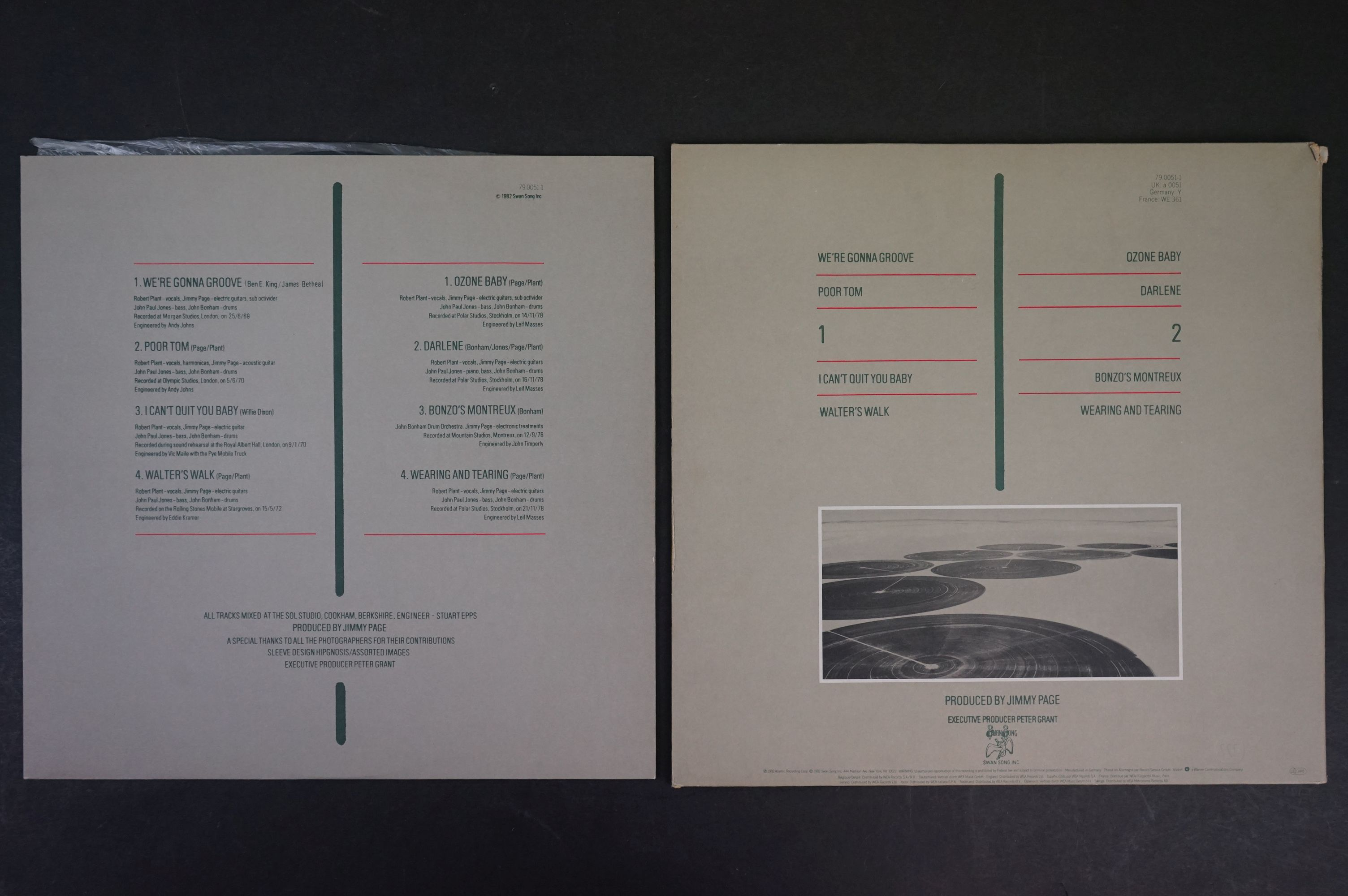 Vinyl - Six Led Zeppelin LPs to include In Through the Outdoor (cover D) SSK59410, Coda 790051, 2 - Image 9 of 17
