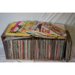 Vinyl - Over 200 LPs to include Country, MOR, Pop etc, sleeves and vinyl vg+ (two boxes)