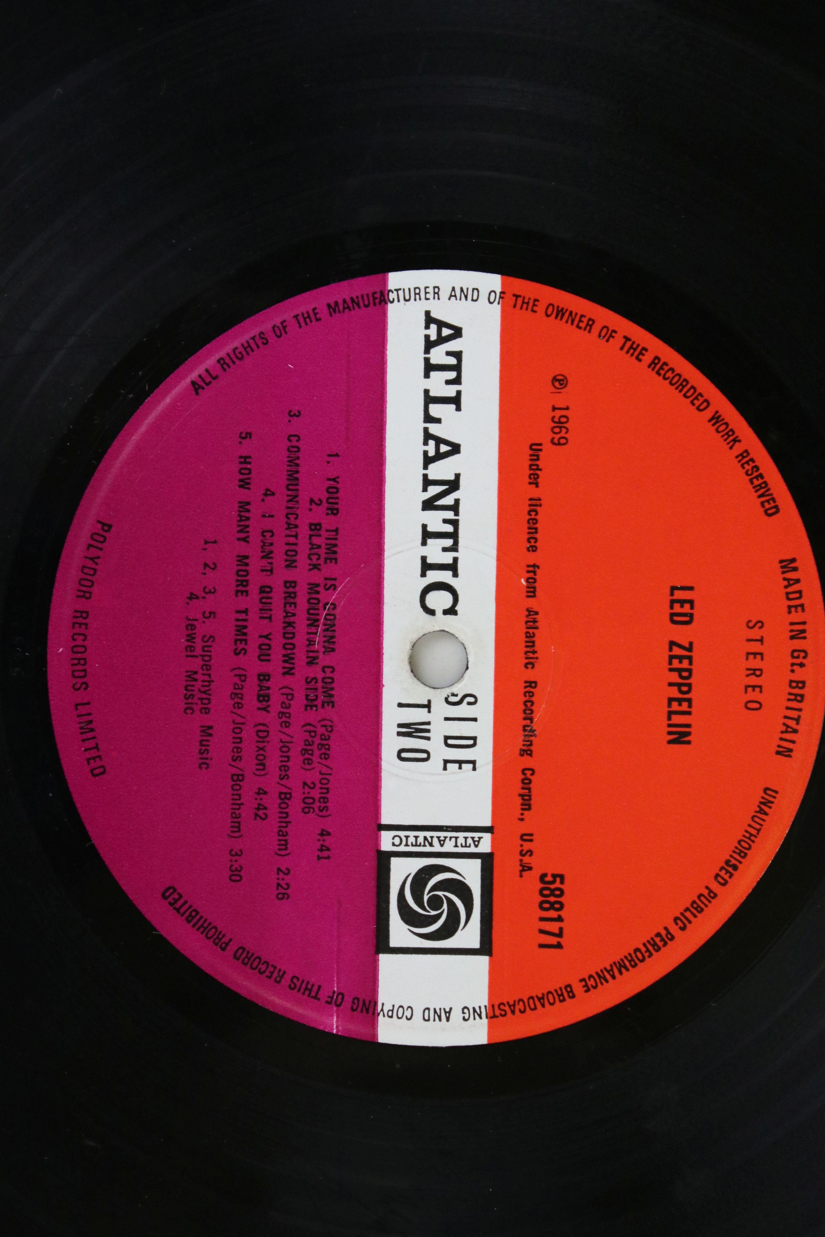 Vinyl - Led Zeppelin One (588171) Atlantic red/maroon label, Superhype publishing credit, - Image 4 of 5