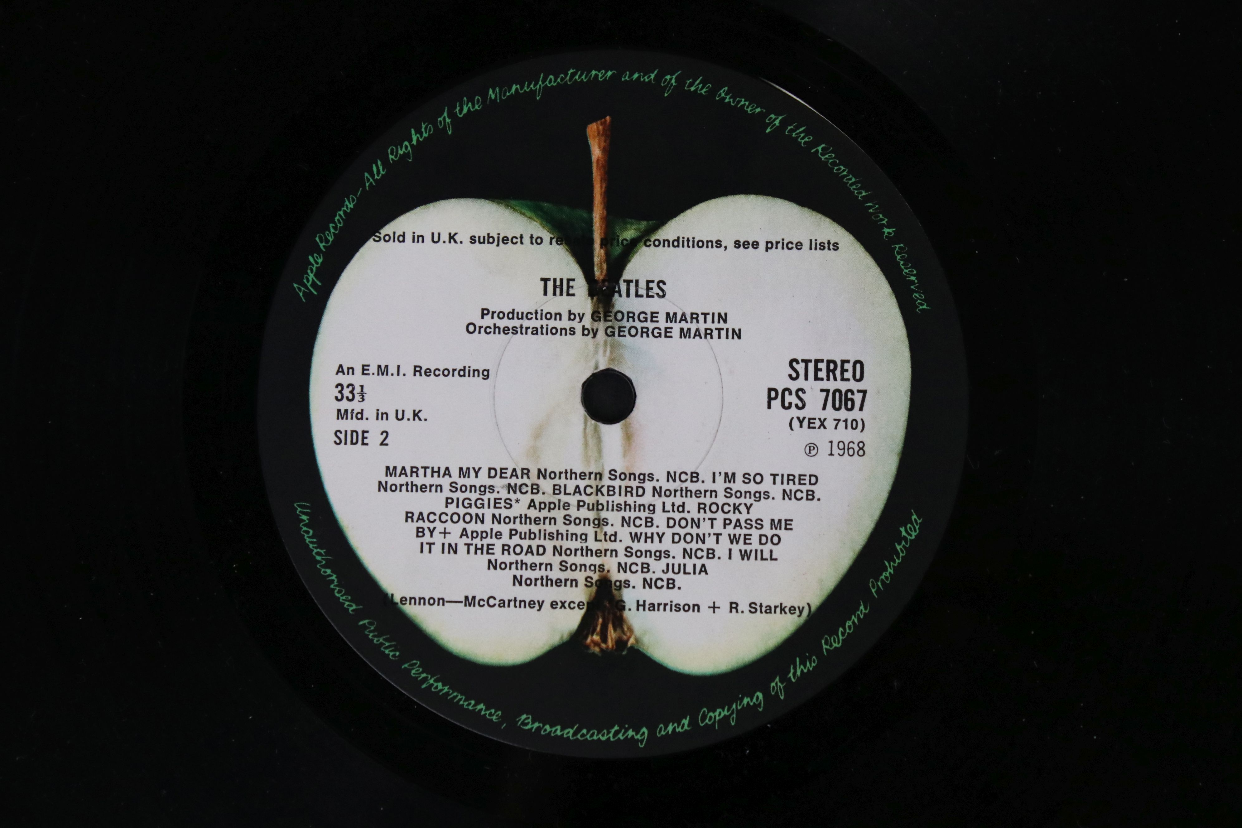 Vinyl - The Beatles White Album LP mono PMC7067-8, numbered 0001376 with 8 x coloured prints and - Image 3 of 10