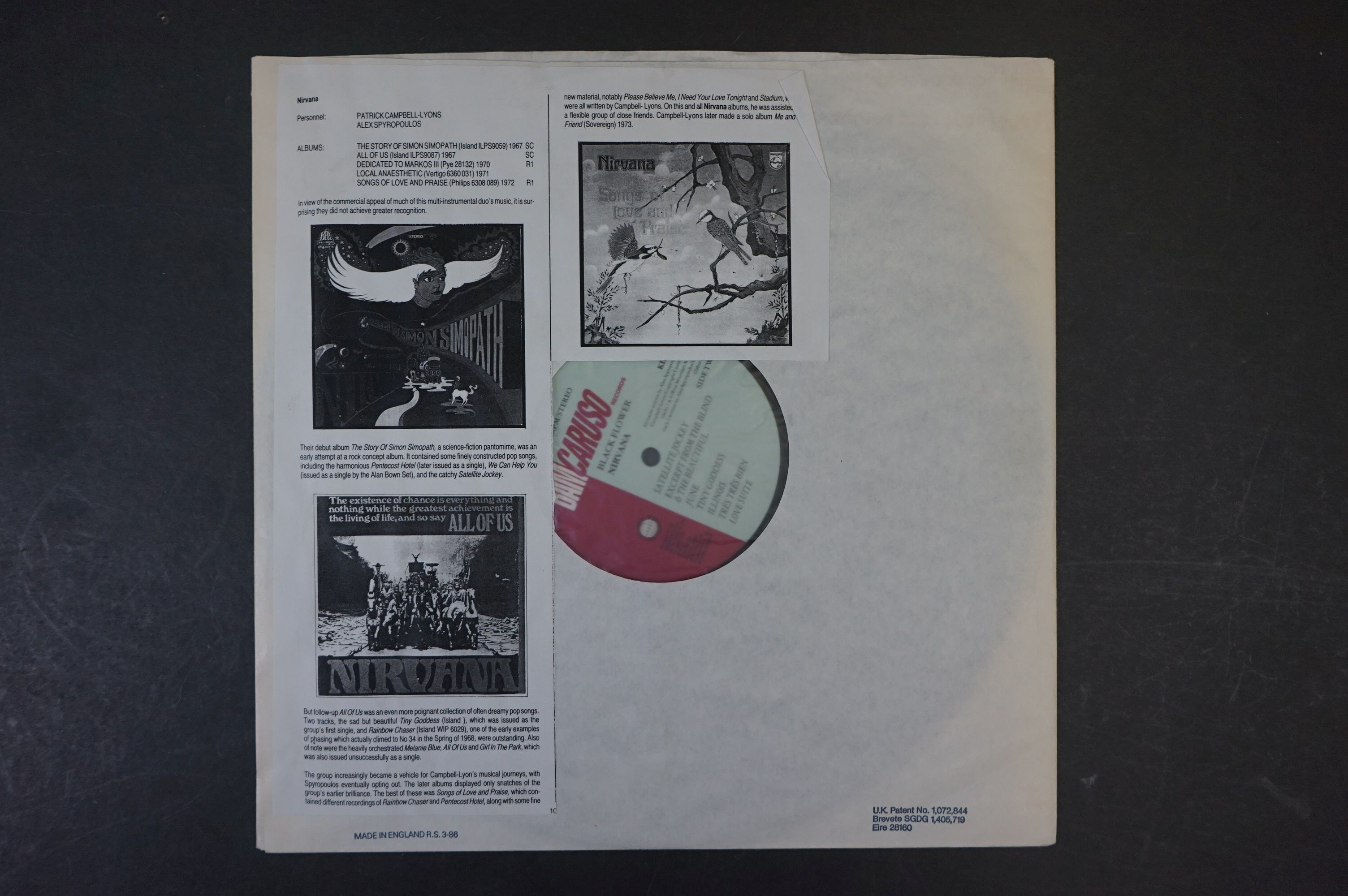 Vinyl - Two Nirvana LPs to include The Story of Simon Simopath LP on Bell Records 6015-S Stereo, - Image 11 of 13