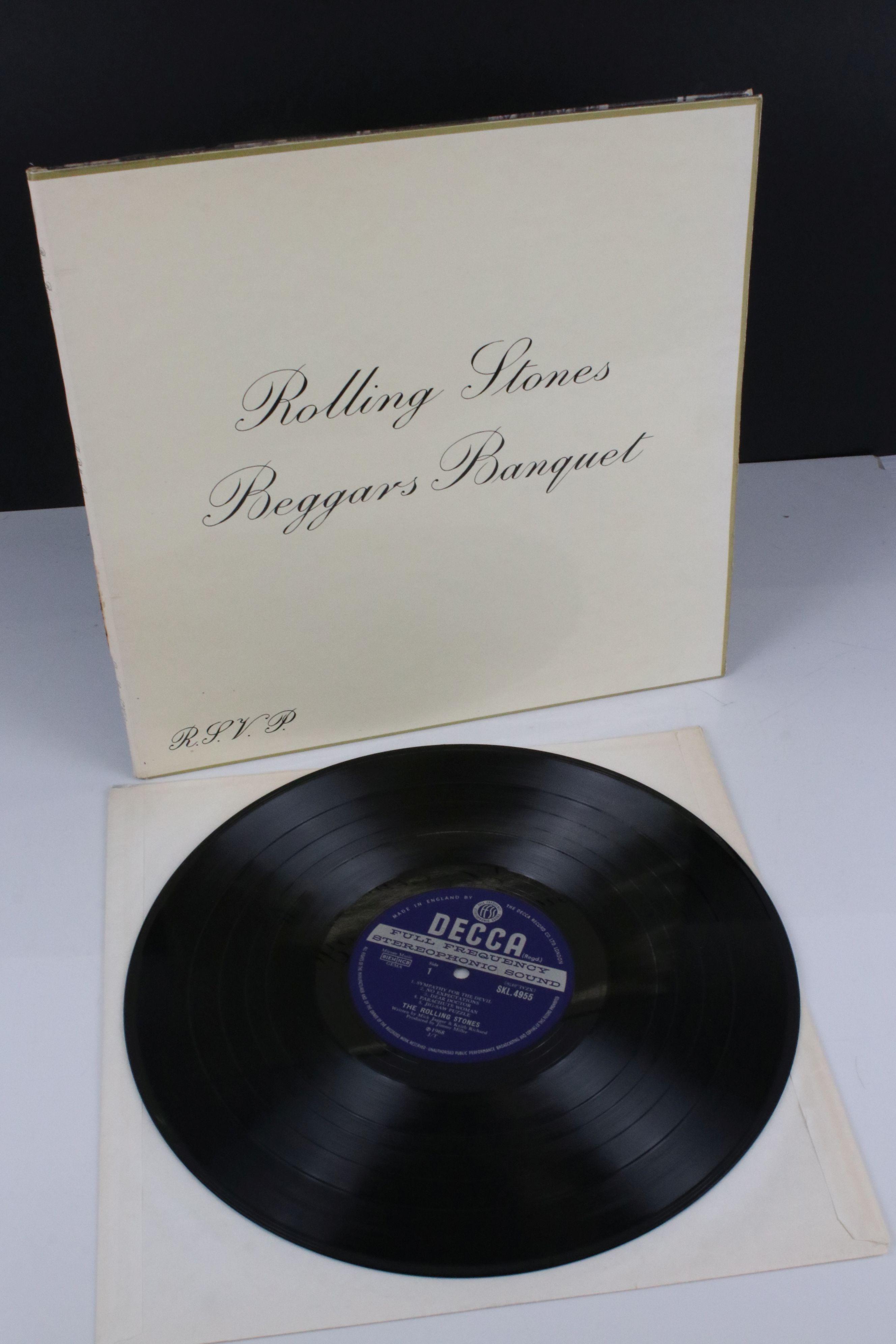 Vinyl - The Rolling Stones Beggars Banquet (SKL 4955) blue Decca label, Mirage Music, titles - Image 2 of 6