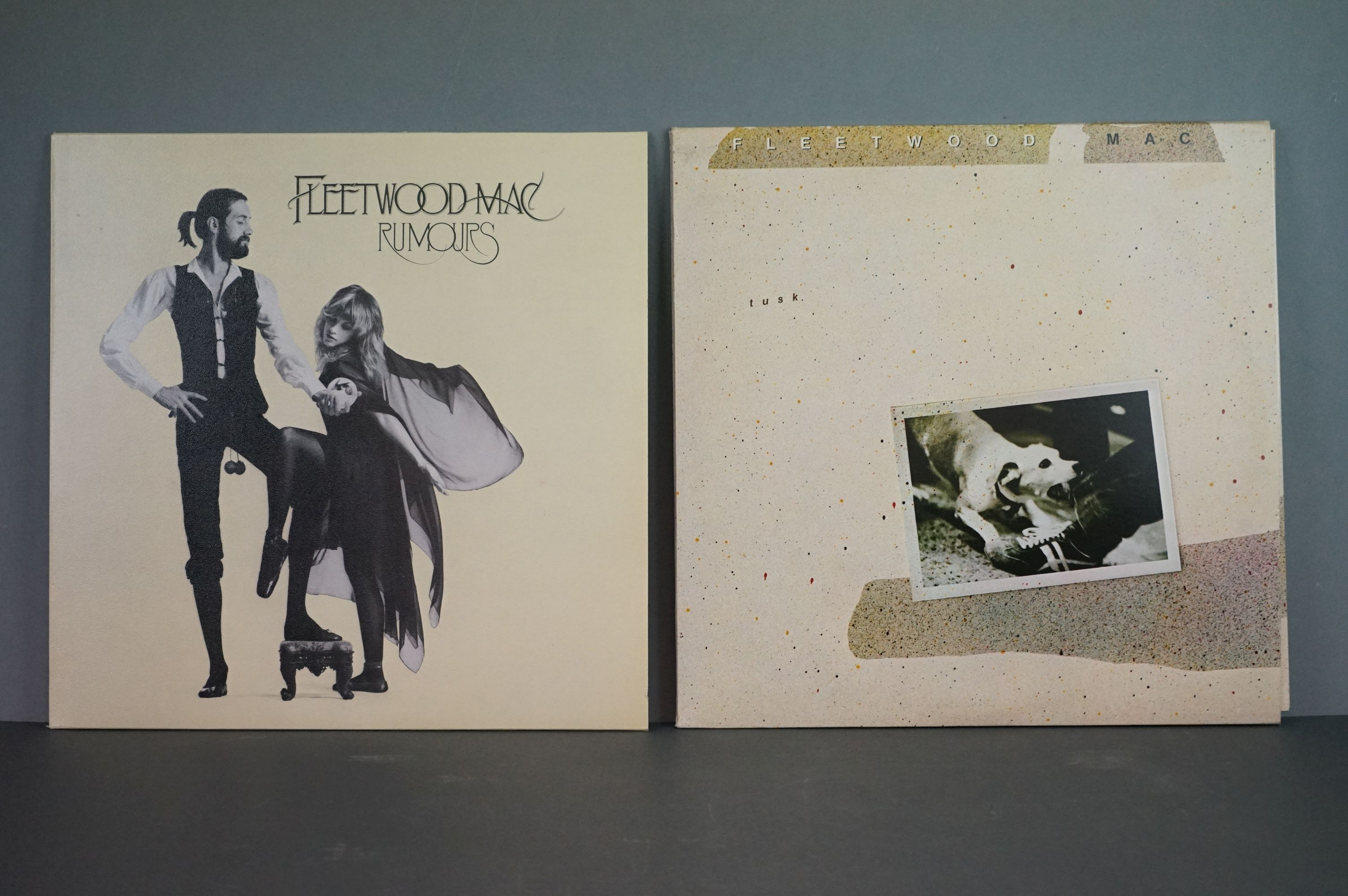 Vinyl - Two Fleetwood Mac LPs to include Tusk (K66088) and Rumours (K56344), sleeves and vinyl vg+