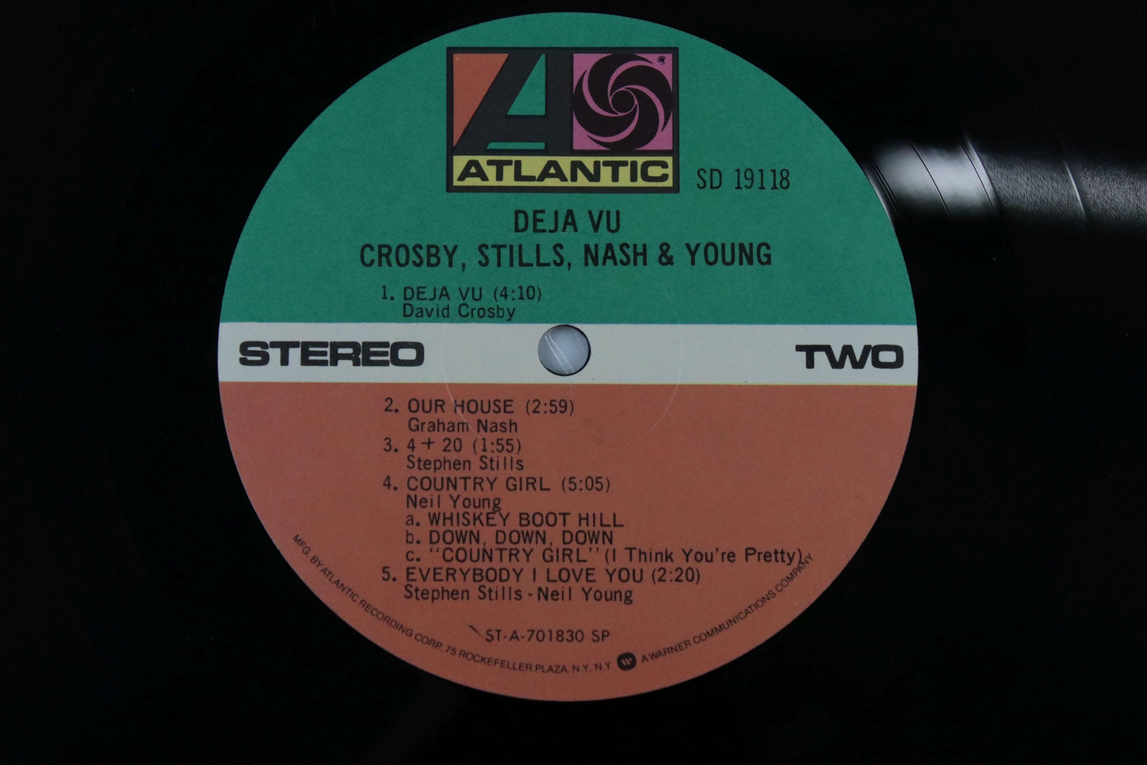 Signed Vinyl - Crosby Stills Nash & Young Deja Vu LP US pressing on Atlantic SD19118, signed by - Image 4 of 4