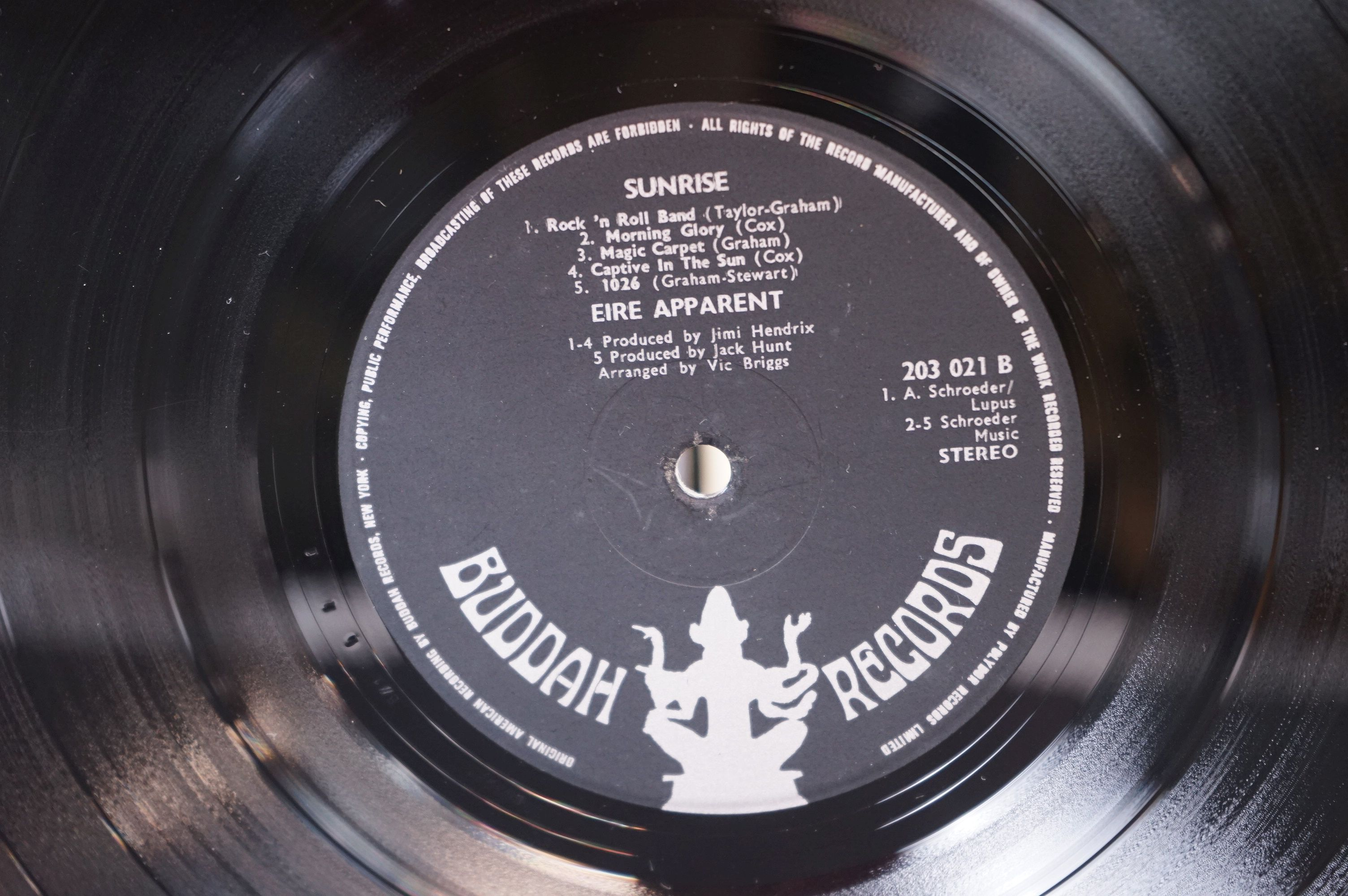 Vinyl - Psych - Eire Apparent - Sunrise (UK 1969,?Buddha Records) Produced by Jimi Hendrix vg+ - Image 3 of 4