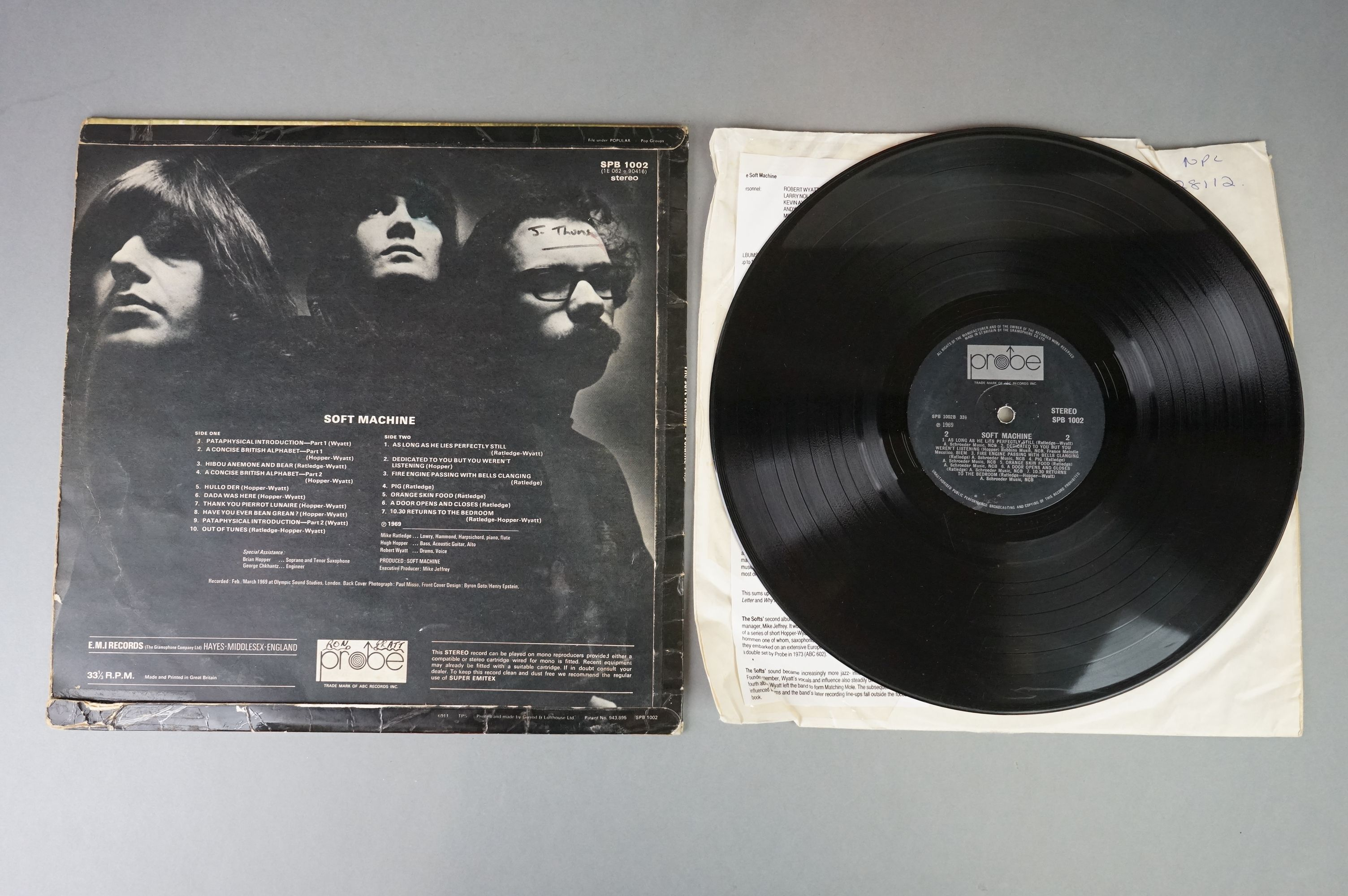 Vinyl - Two Soft Machine vinyl LP's to include Softs (EMI Records SHSP 4056), Volume Two (Probe - Image 3 of 9