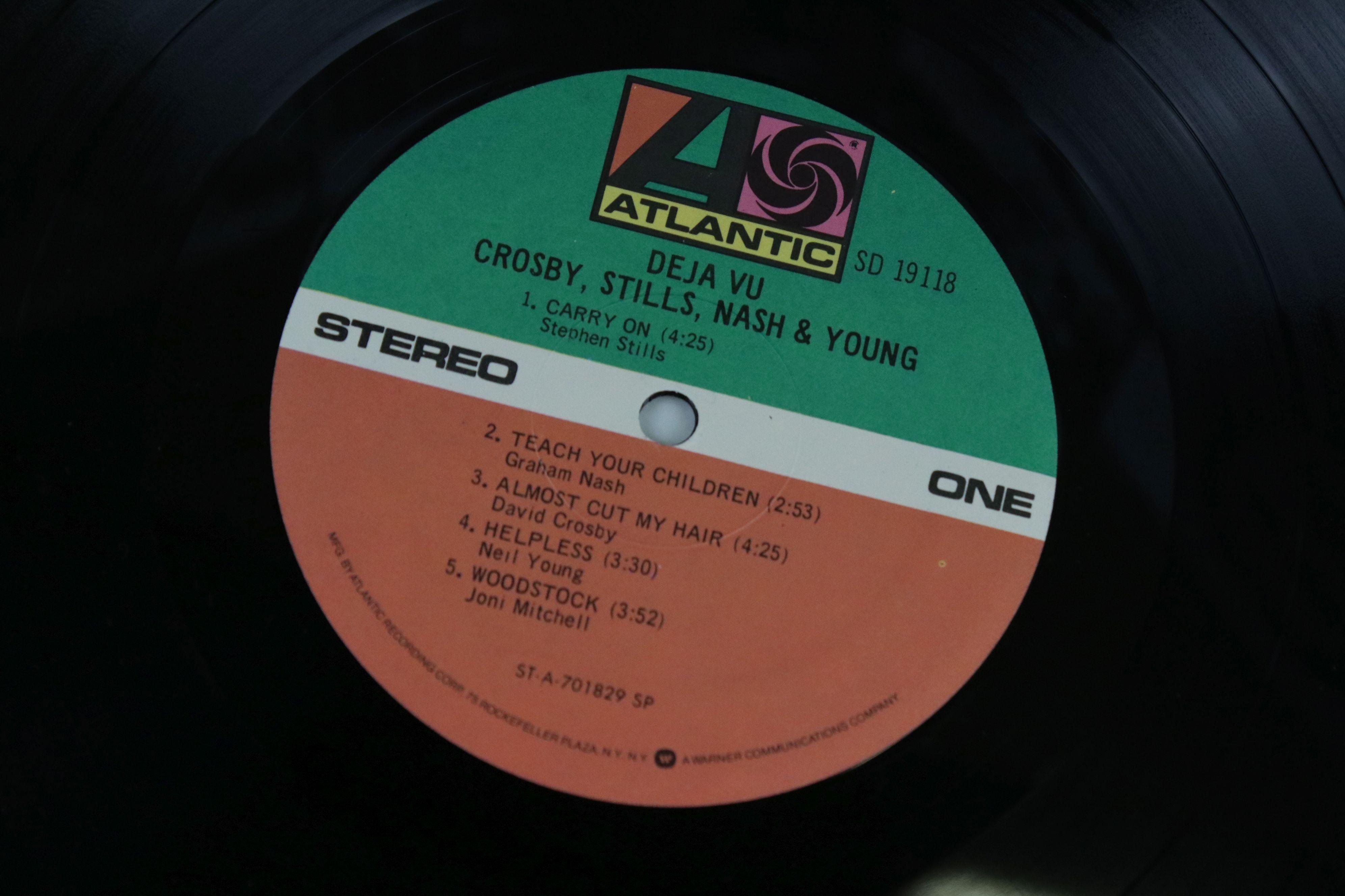 Signed Vinyl - Crosby Stills Nash & Young Deja Vu LP US pressing on Atlantic SD19118, signed by - Image 3 of 4