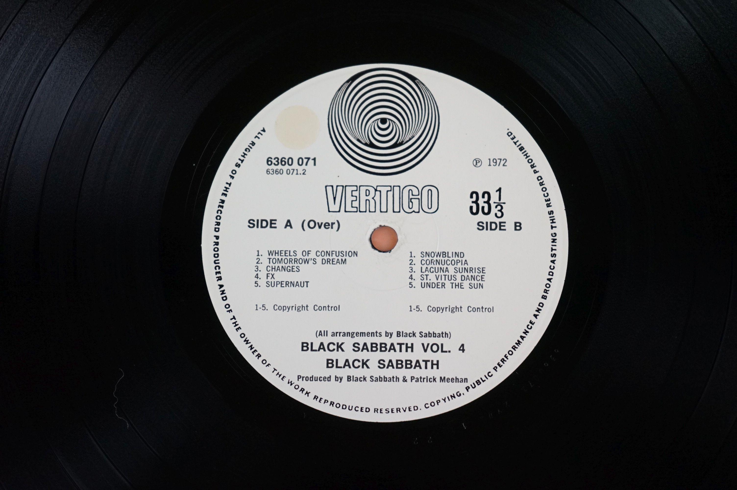 Vinyl - Black Sabbath vol 4 6360071 on Vertigo 1st pressing, no 'made in England' to label, gatefold - Image 6 of 6