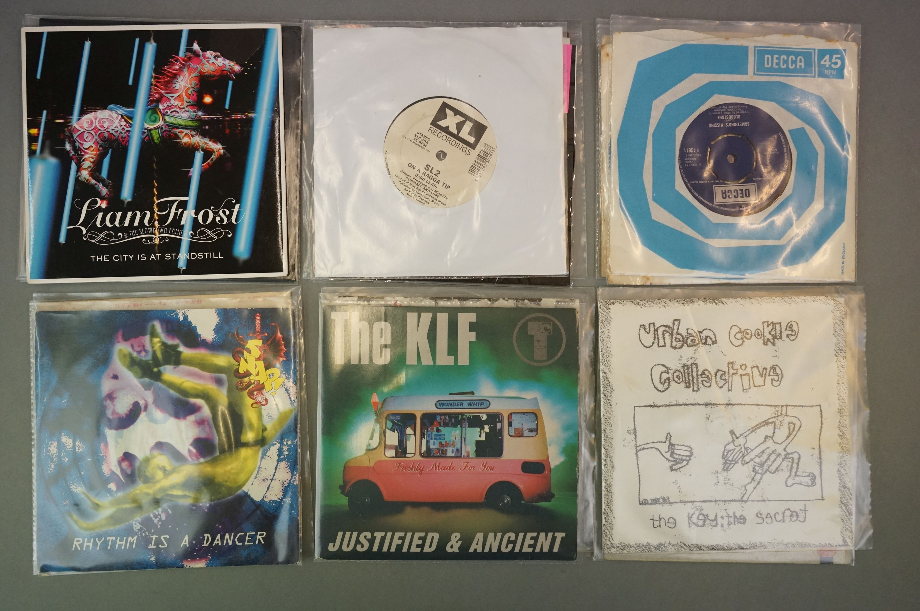 """Vinyl - Collection of approx 20 7"""" singles spanning genres and decades including 90's examples - Image 5 of 6"""