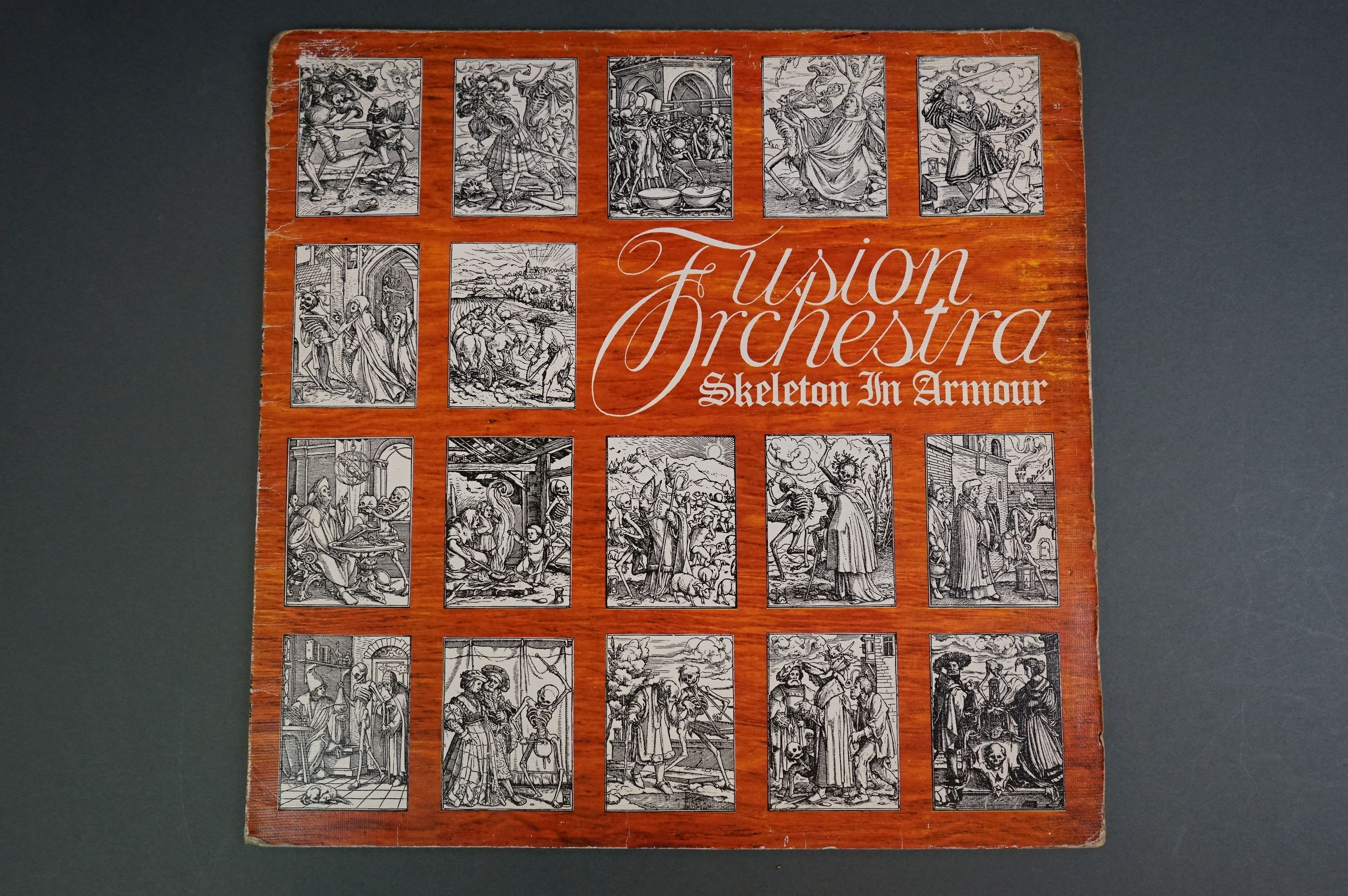 Vinyl - Fusion Orchestra Skeleton In Armour LP EMA758, sleeve vg+ with buffering to corners,
