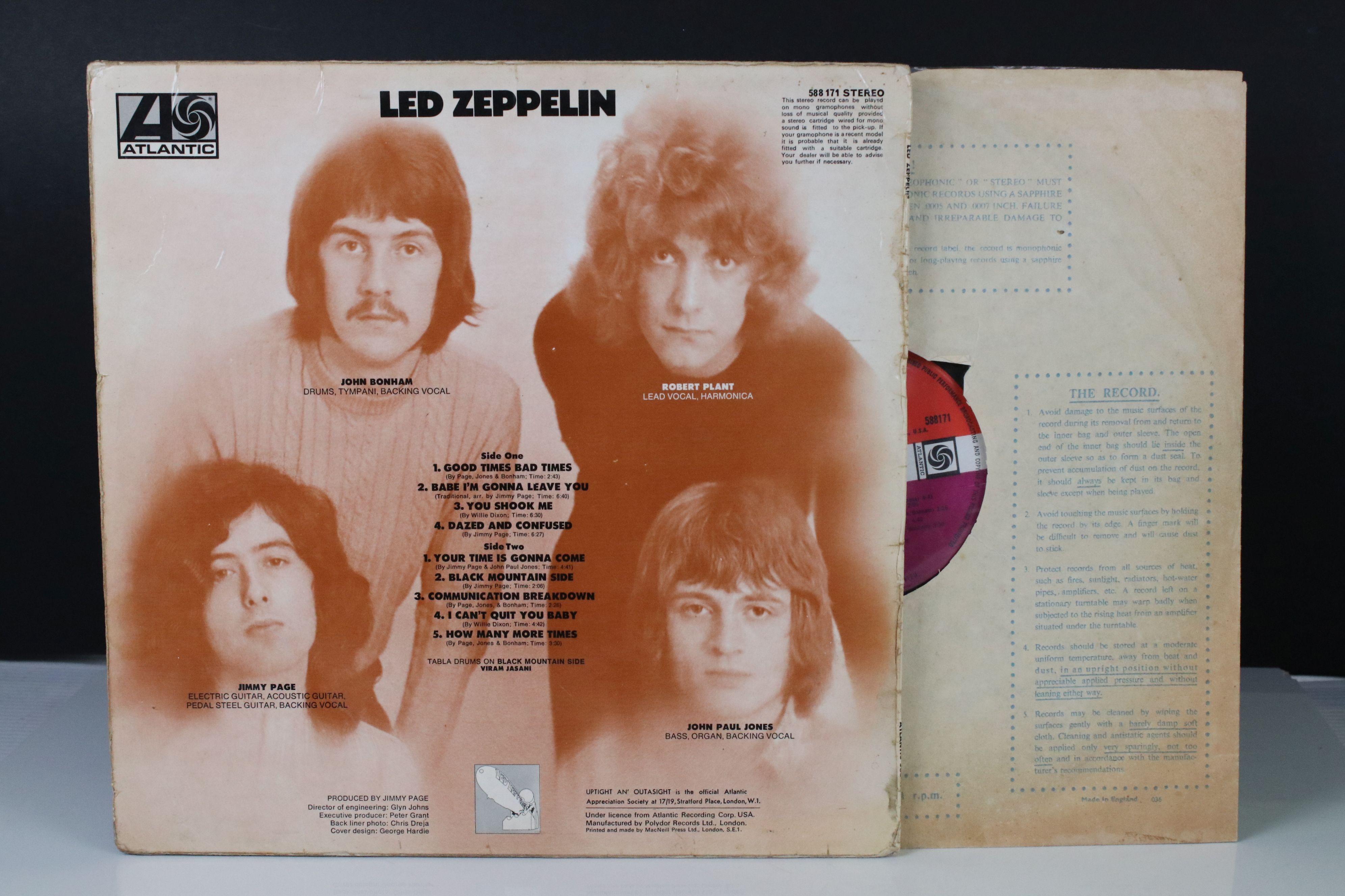 Vinyl - Led Zeppelin One (588171) Atlantic red/maroon label, Superhype publishing credit, - Image 5 of 5
