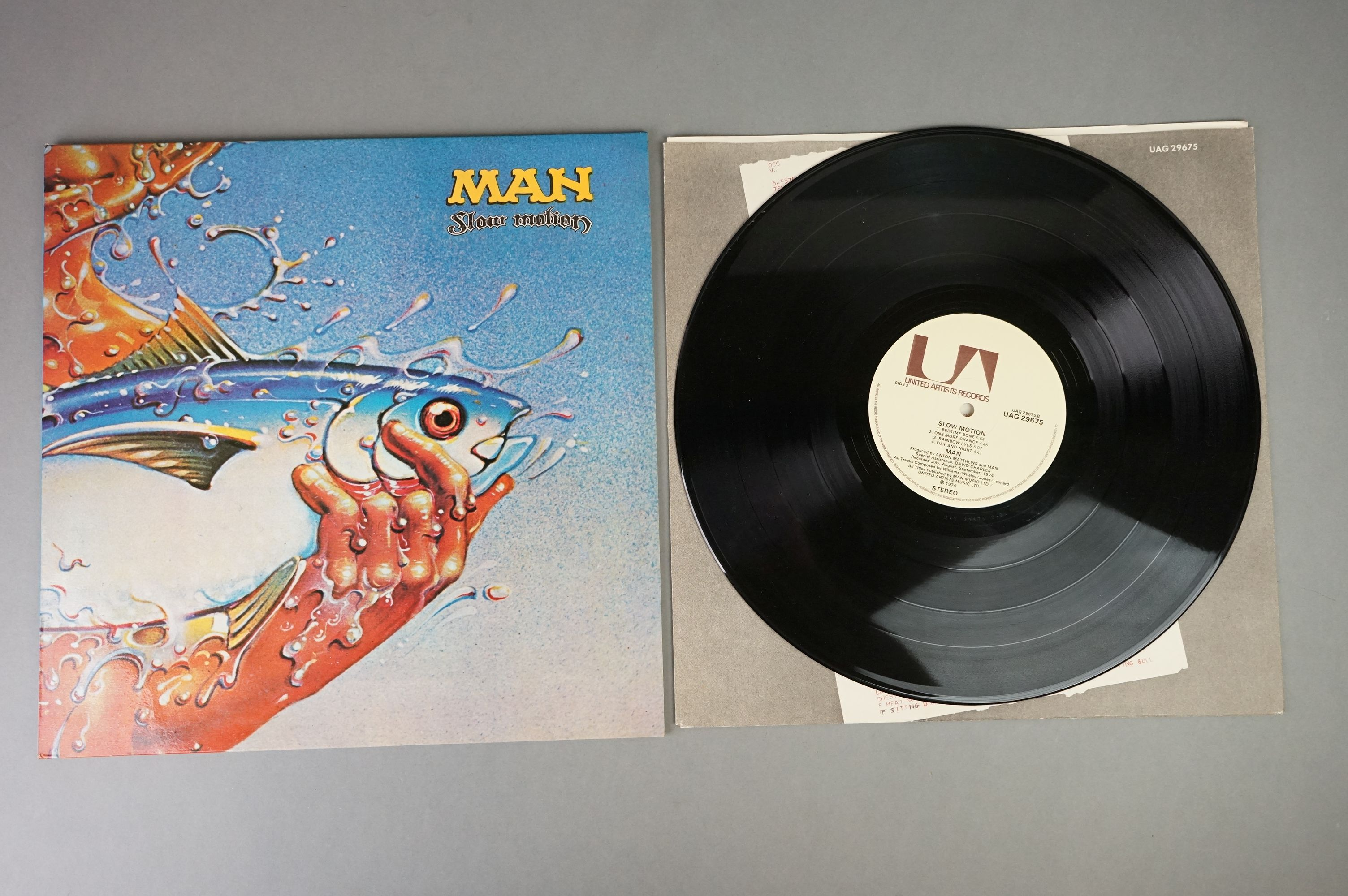 Vinyl - Man 2 LP's to include Slow Motion (UAG 29675) and Do You Like It Here (UAG 29236). Sleeves & - Image 5 of 7