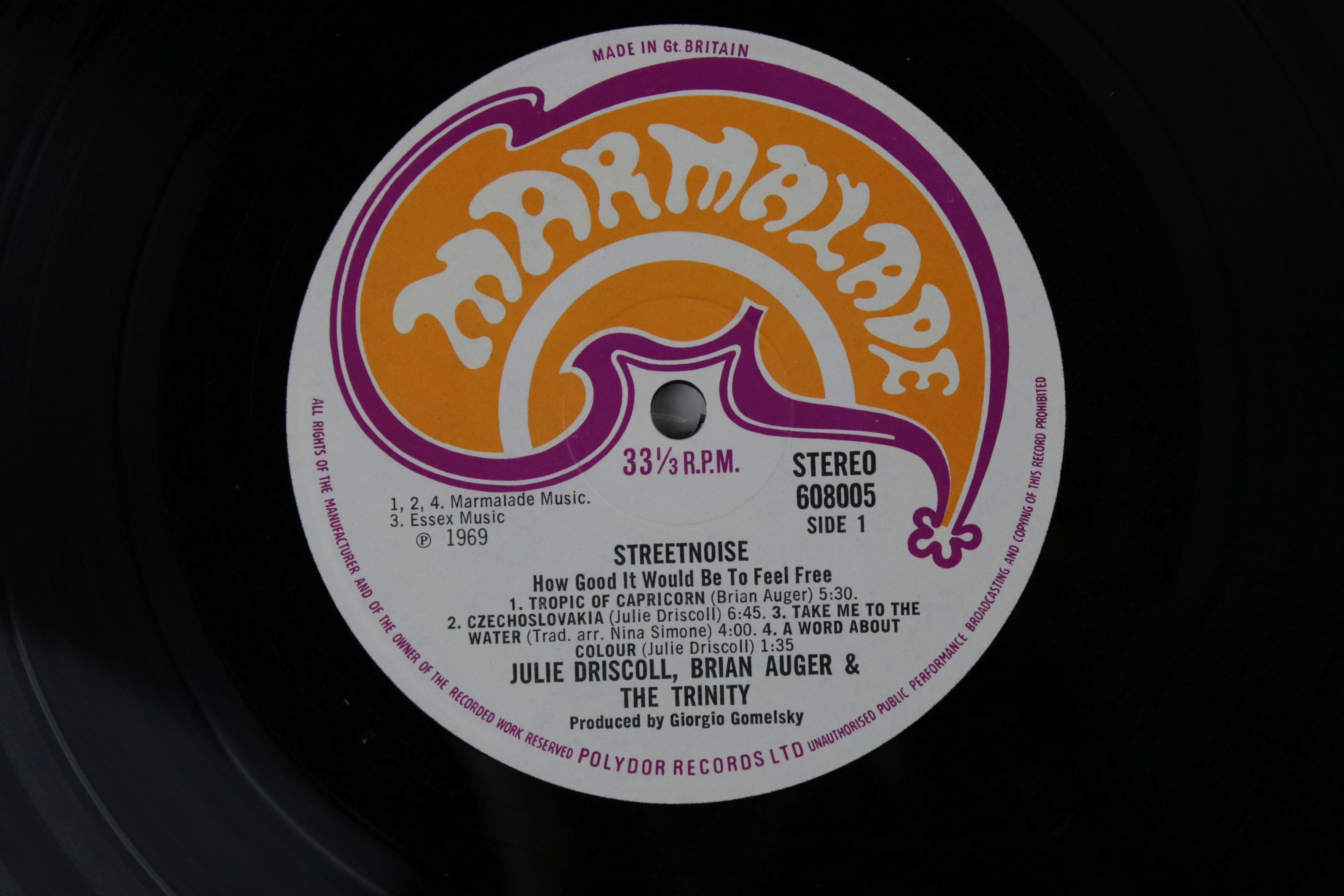 Vinyl - Julie Driscoll and Brian Auger Streetnoise LP on Marmalade 608005/6 Stereo, gatefold sleeve, - Image 4 of 6