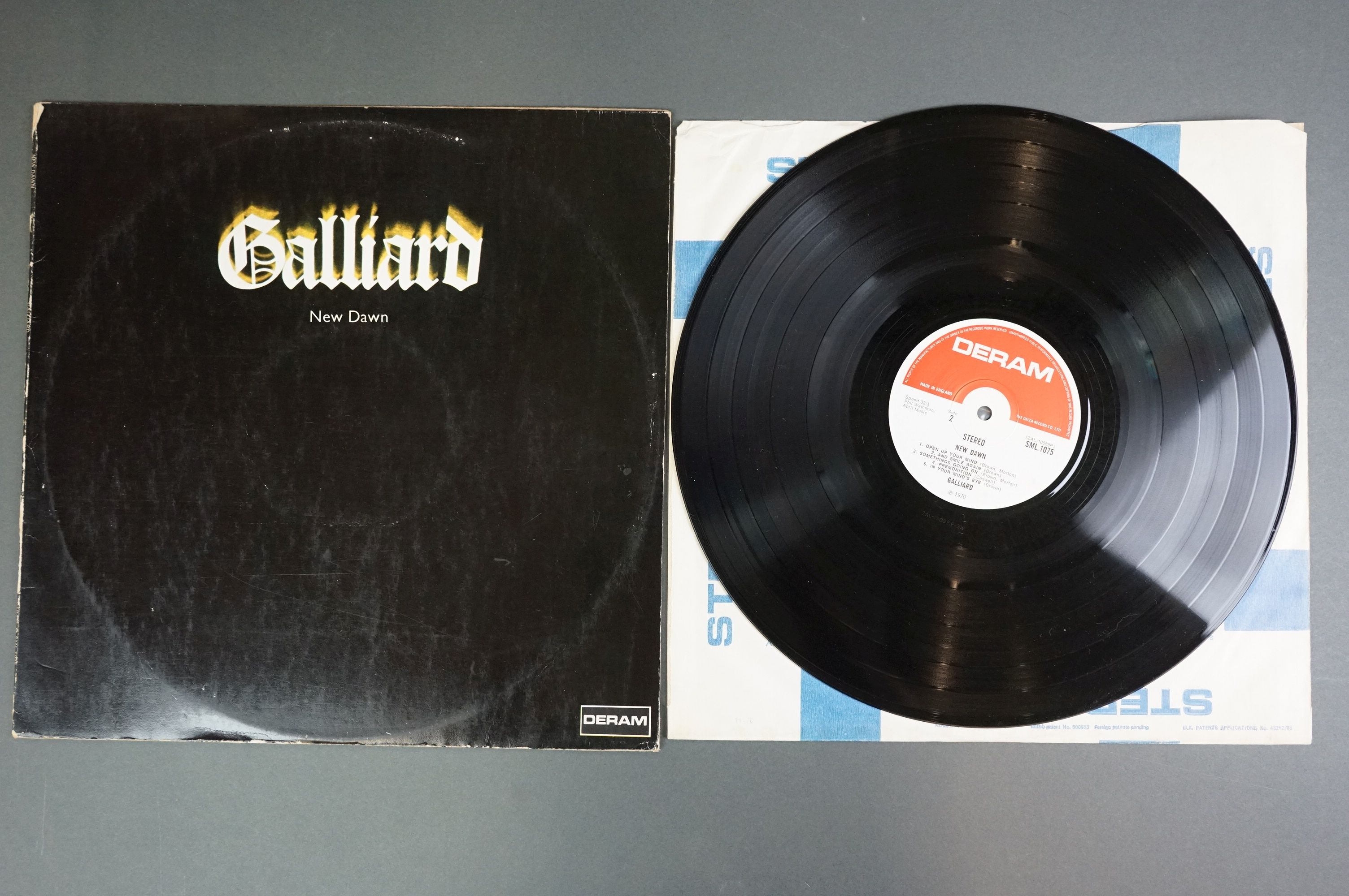Vinyl - Galliard New Dawn SML1075 LP with red and white Deram label, small logo, sleeve vg- with - Image 2 of 3