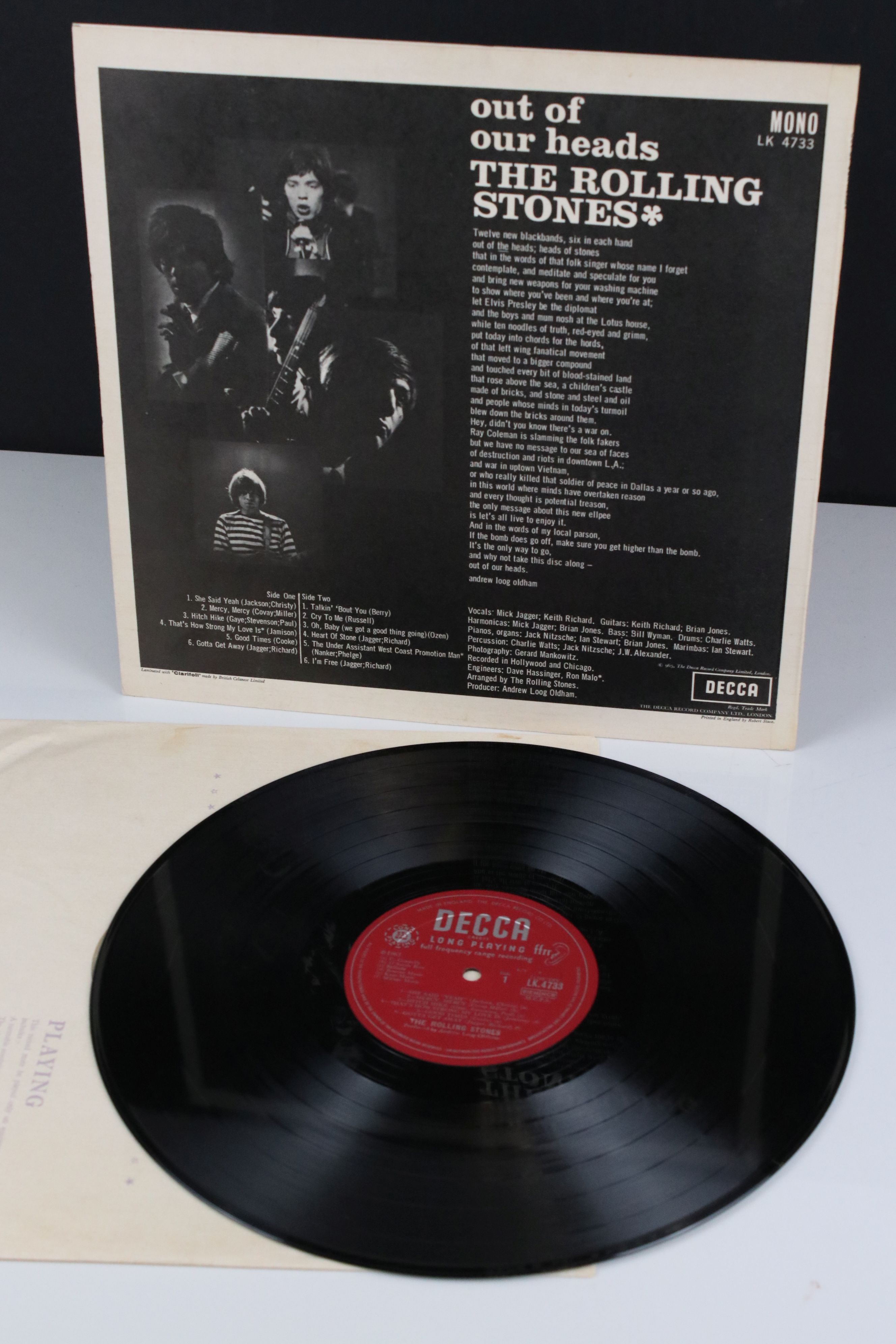 Vinyl - The Rolling Stones Out Of Our Heads (Decca LK 4733) mono, non flipback sleeve by Robert - Image 2 of 4