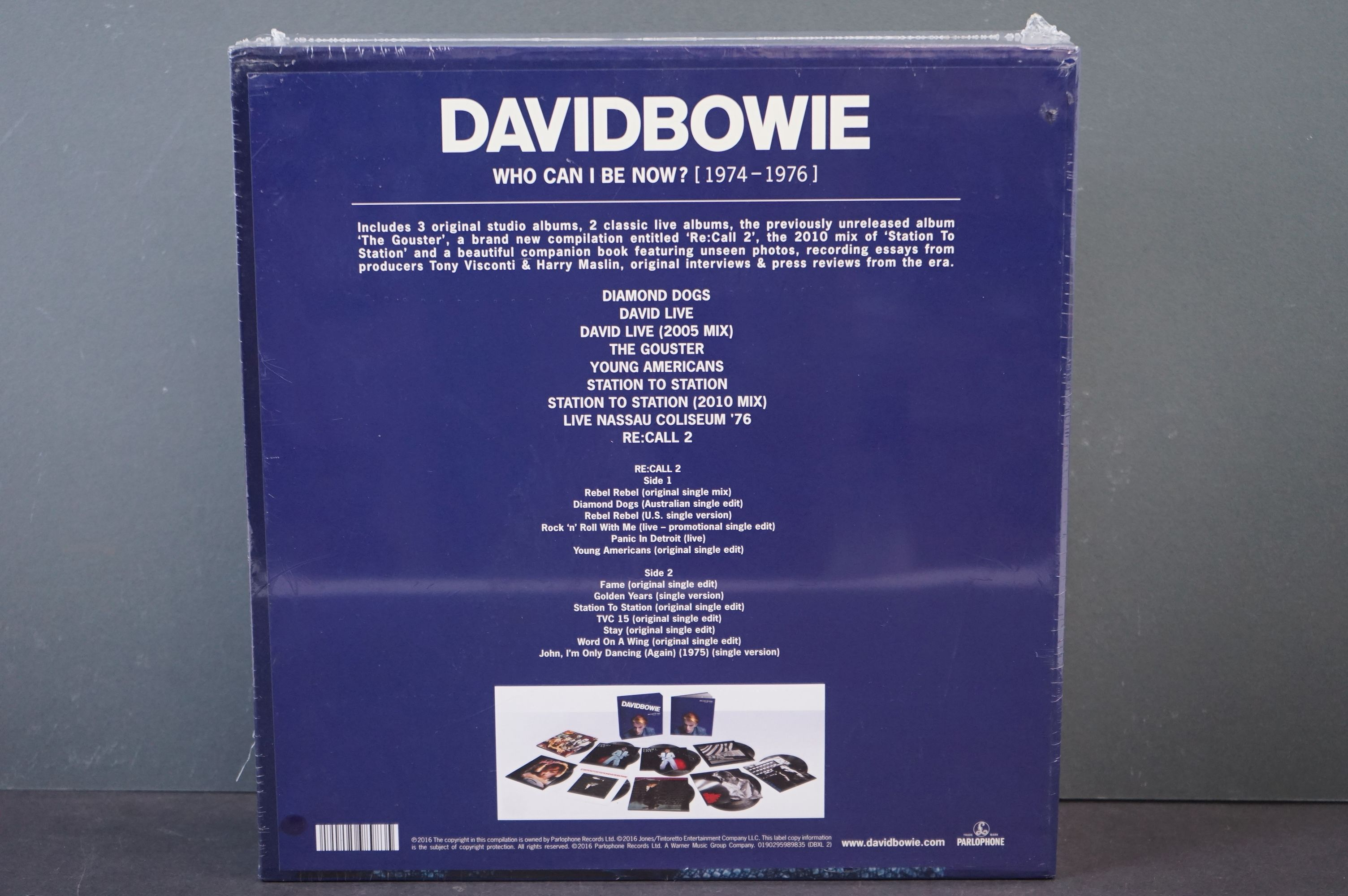 Vinyl - David Bowie Who Can I Be Now? (1974-1976) 9 LP Box Set DBXL2, sealed - Image 2 of 3