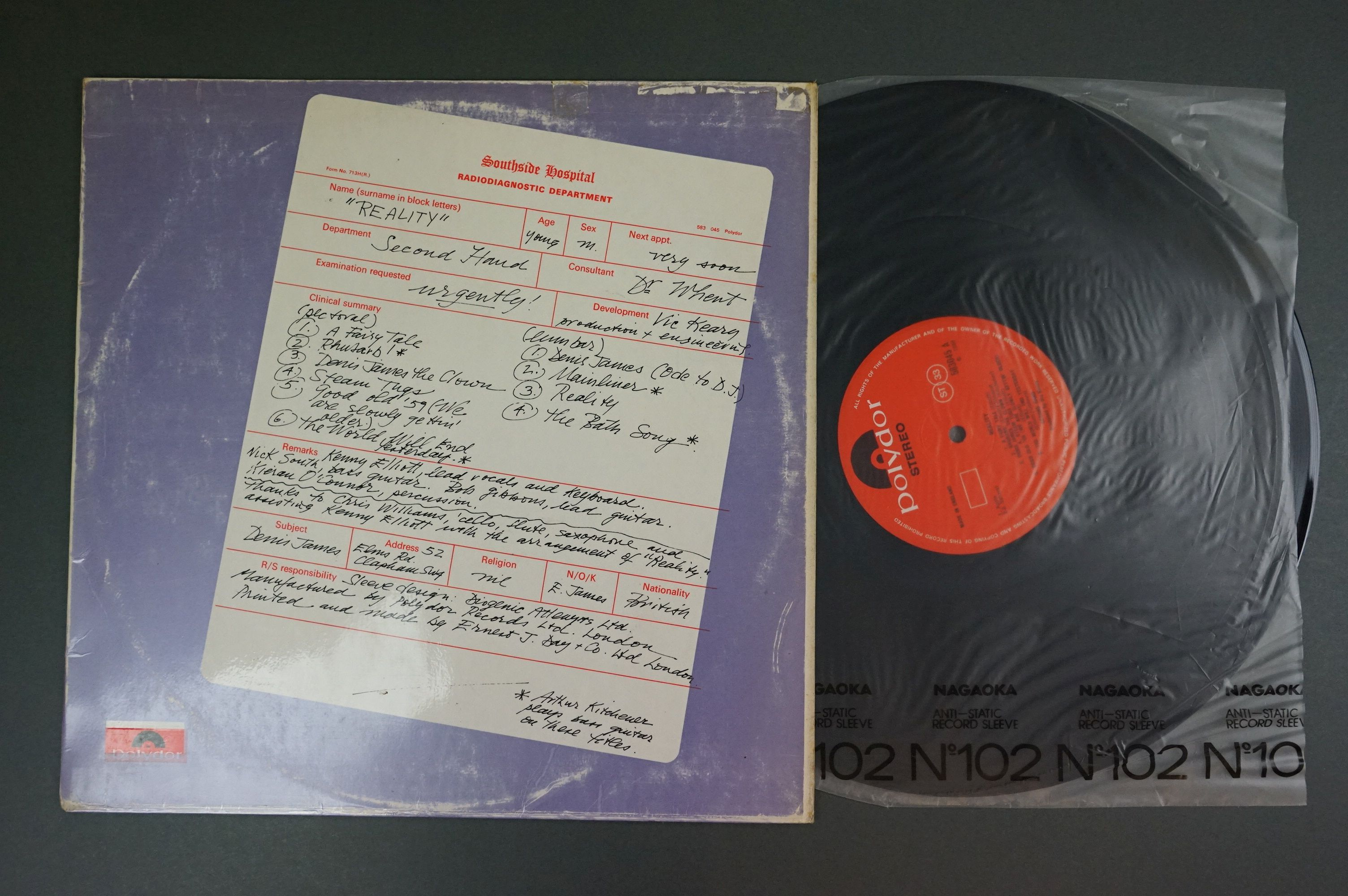 Vinyl - Two Second Hand LPs to include Death May Be Your Santa Claus (Mushroom 200) and Reality on - Image 4 of 4