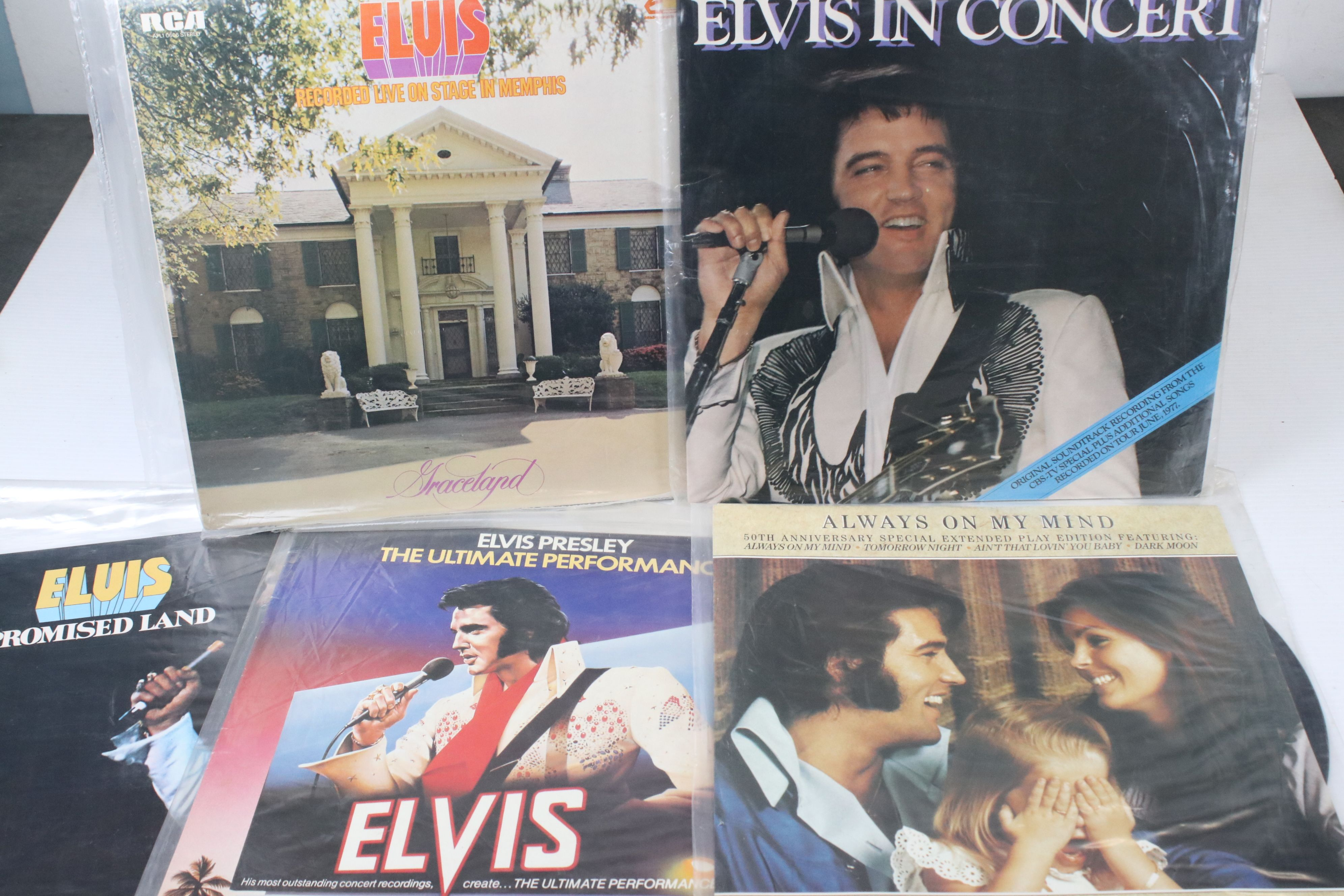 Vinyl - Collection of approx 50 Elvis LP's spanning his career. Condition varies but overall VG+ - Image 2 of 7