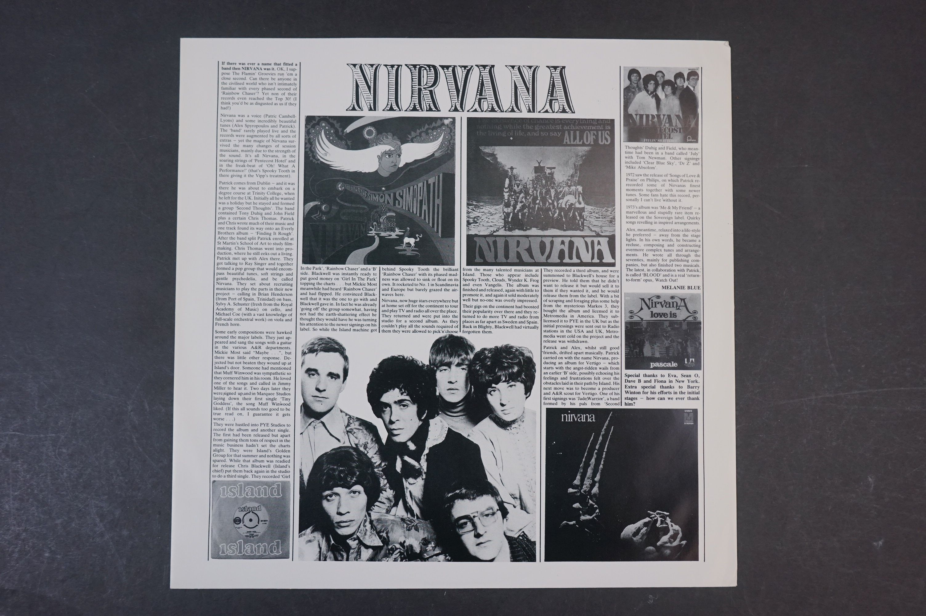 Vinyl - Two Nirvana LPs to include The Story of Simon Simopath LP on Bell Records 6015-S Stereo, - Image 13 of 13