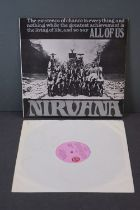 Vinyl - Nirvana All Of Us LP on Island ILPS 9087 with pink label, orange/black circle logo,