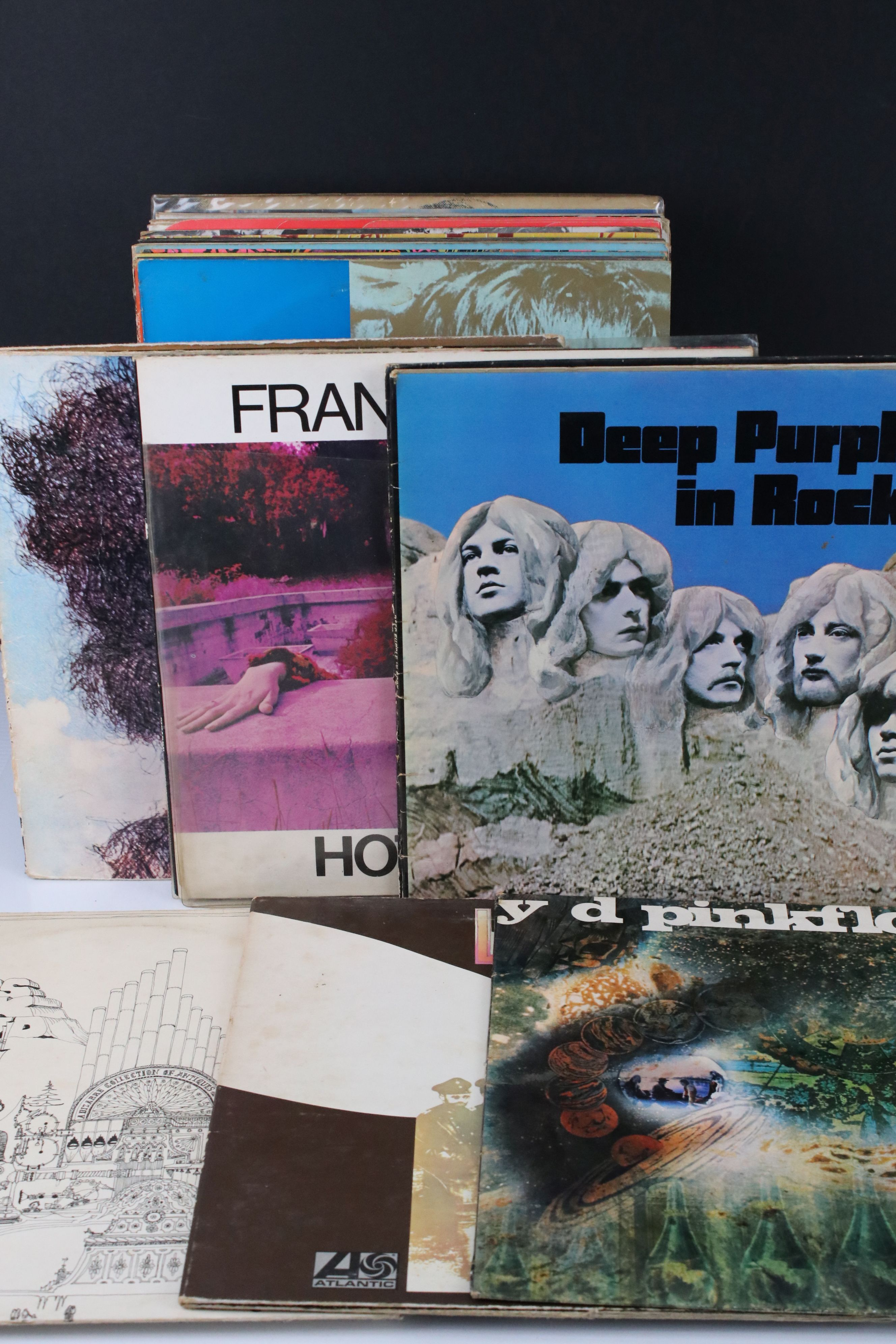 Vinyl - Collection of over 30 LP's mainly rock including Pink Floyd A Saucerful Of Secrets (SCX