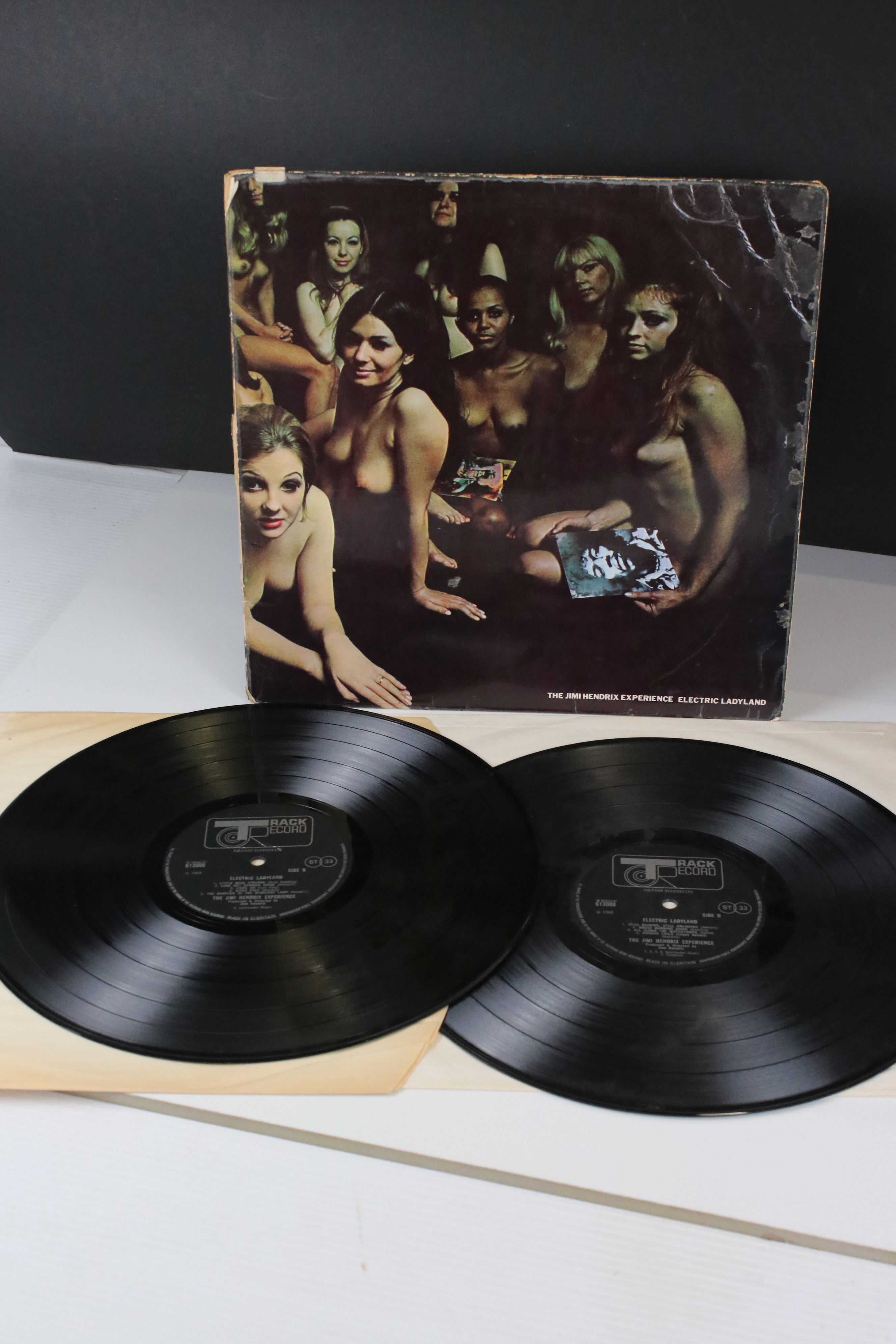 Vinyl - Jimi Hendrix Electric Ladyland LP on Track 613008/9 with inner with blue lettering with Jimi