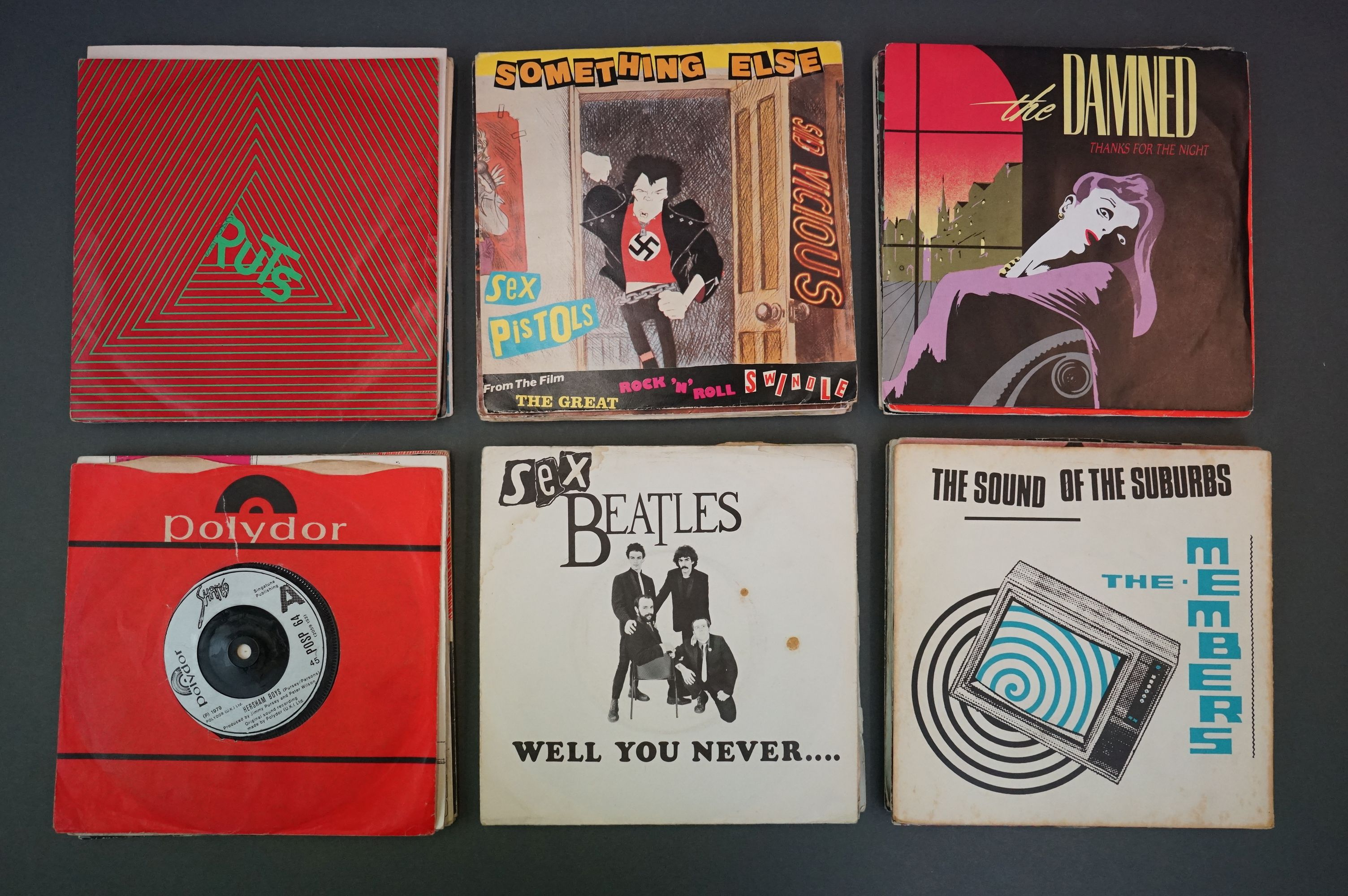Vinyl - Approx 39 first generation punk singles including The Clash x 8, The Buzzcocks x 7, - Image 7 of 8