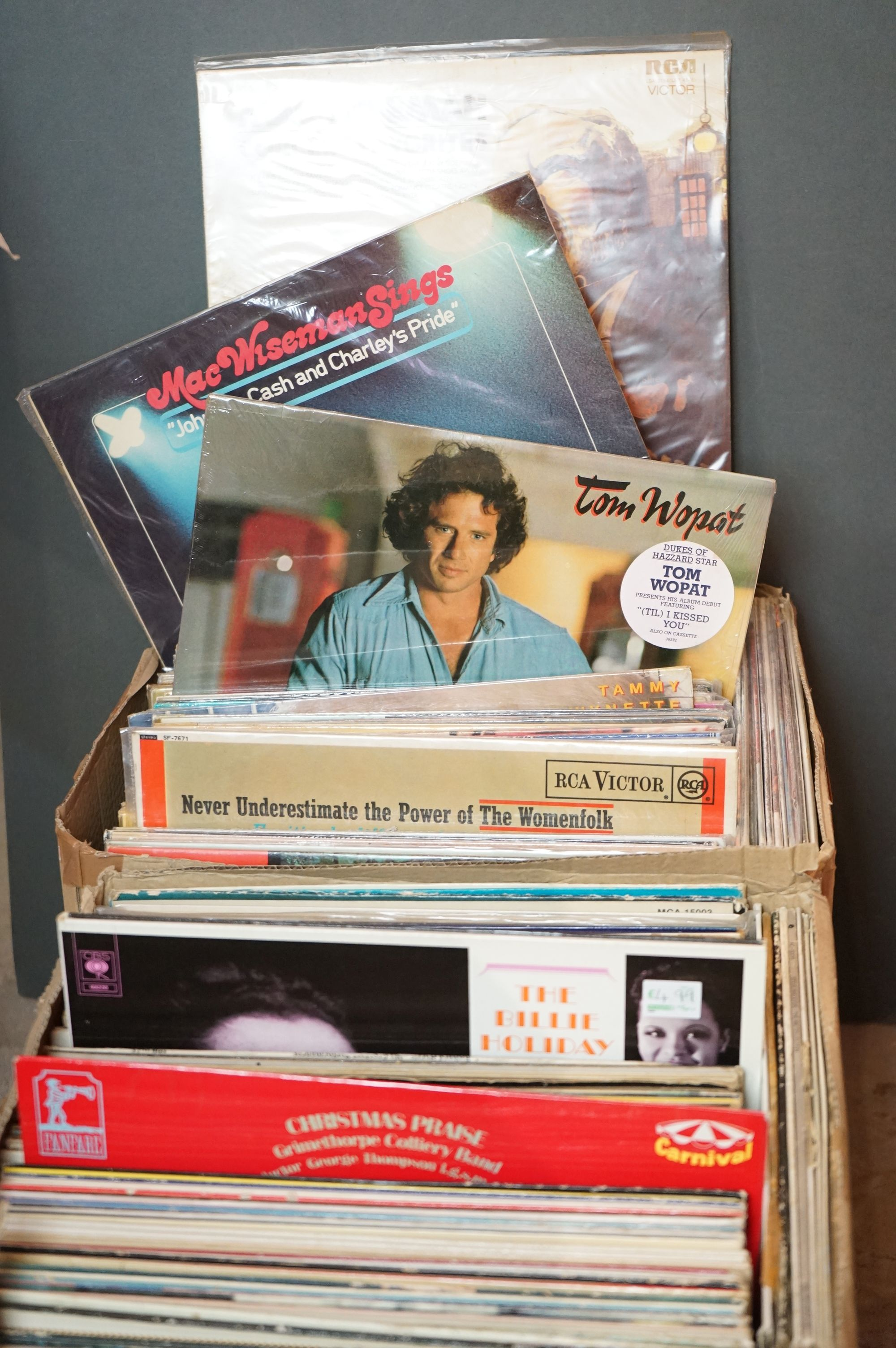 Vinyl - Over 200 LPs to include various genres featuring Link Wray, Tammy Wynette, Decca Digital,