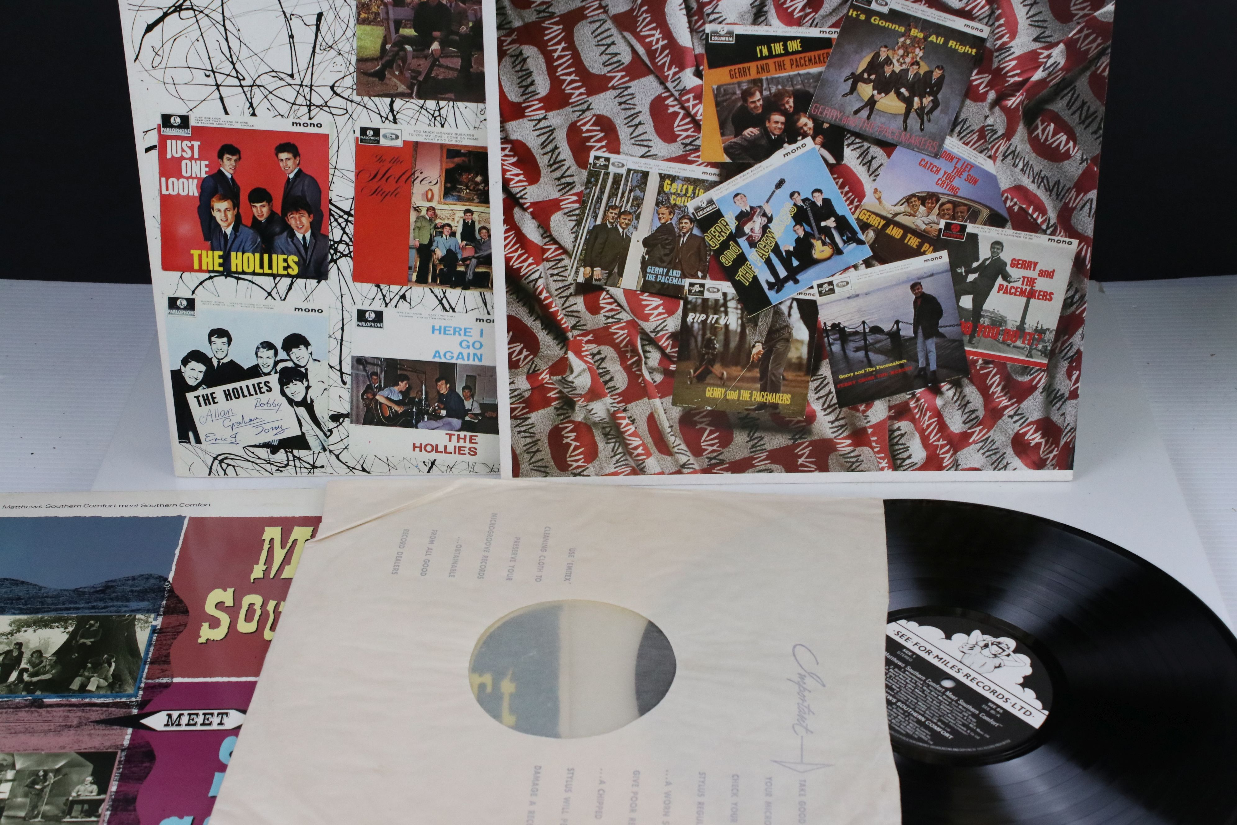 Vinyl - Three LPs on See For Miles Records to include The Hollies EP Collection SEE94, Gerry and the