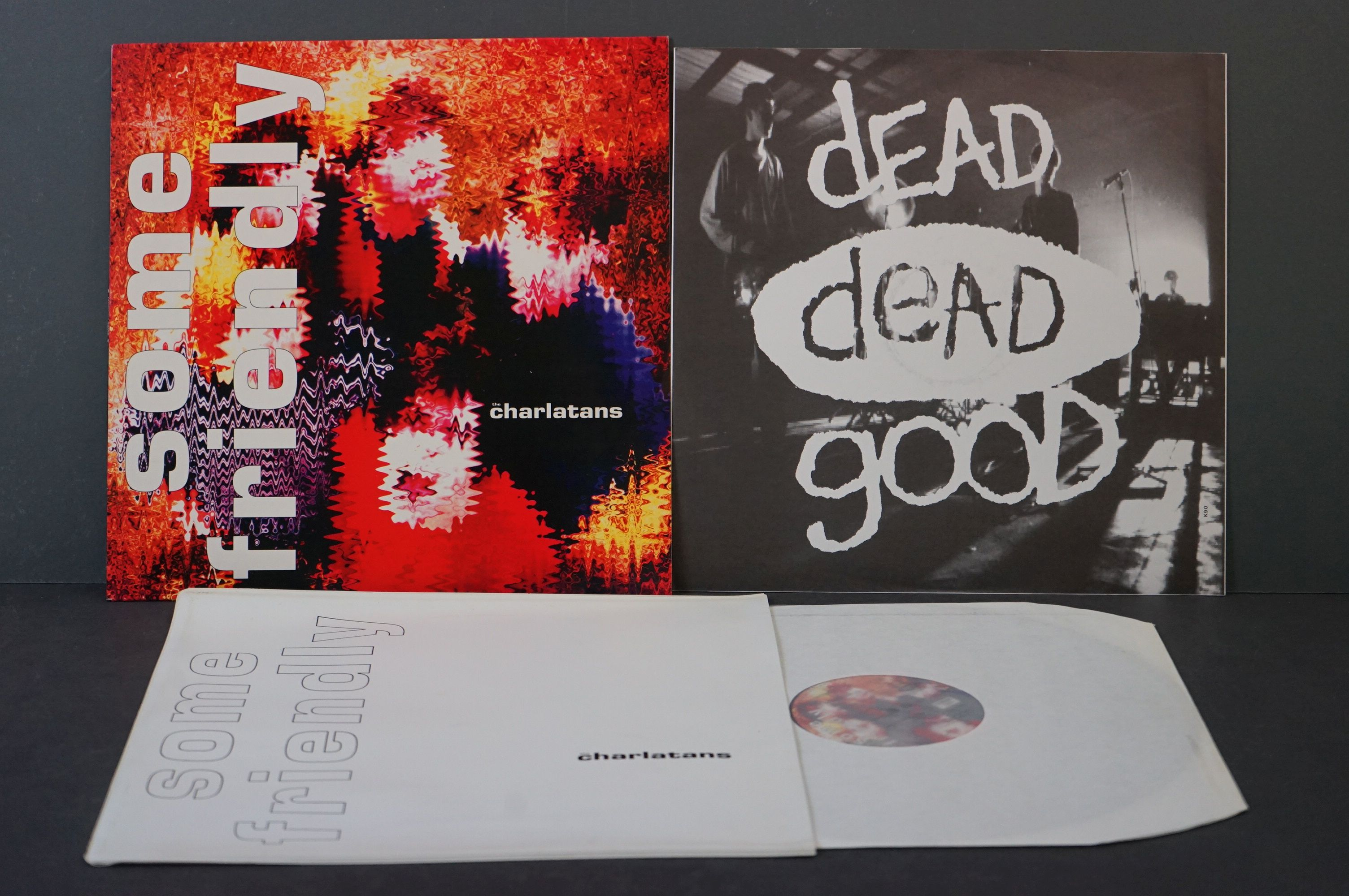 Vinyl - The Charlatans Some Friendly LP with td edn white sleeve, with inner sleeve, vinyl ex,