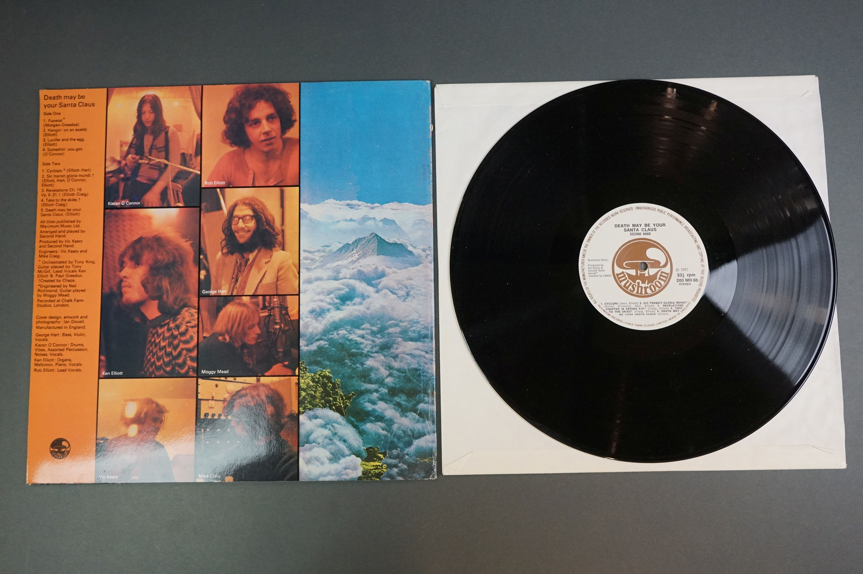 Vinyl - Two Second Hand LPs to include Death May Be Your Santa Claus (Mushroom 200) and Reality on - Image 3 of 4
