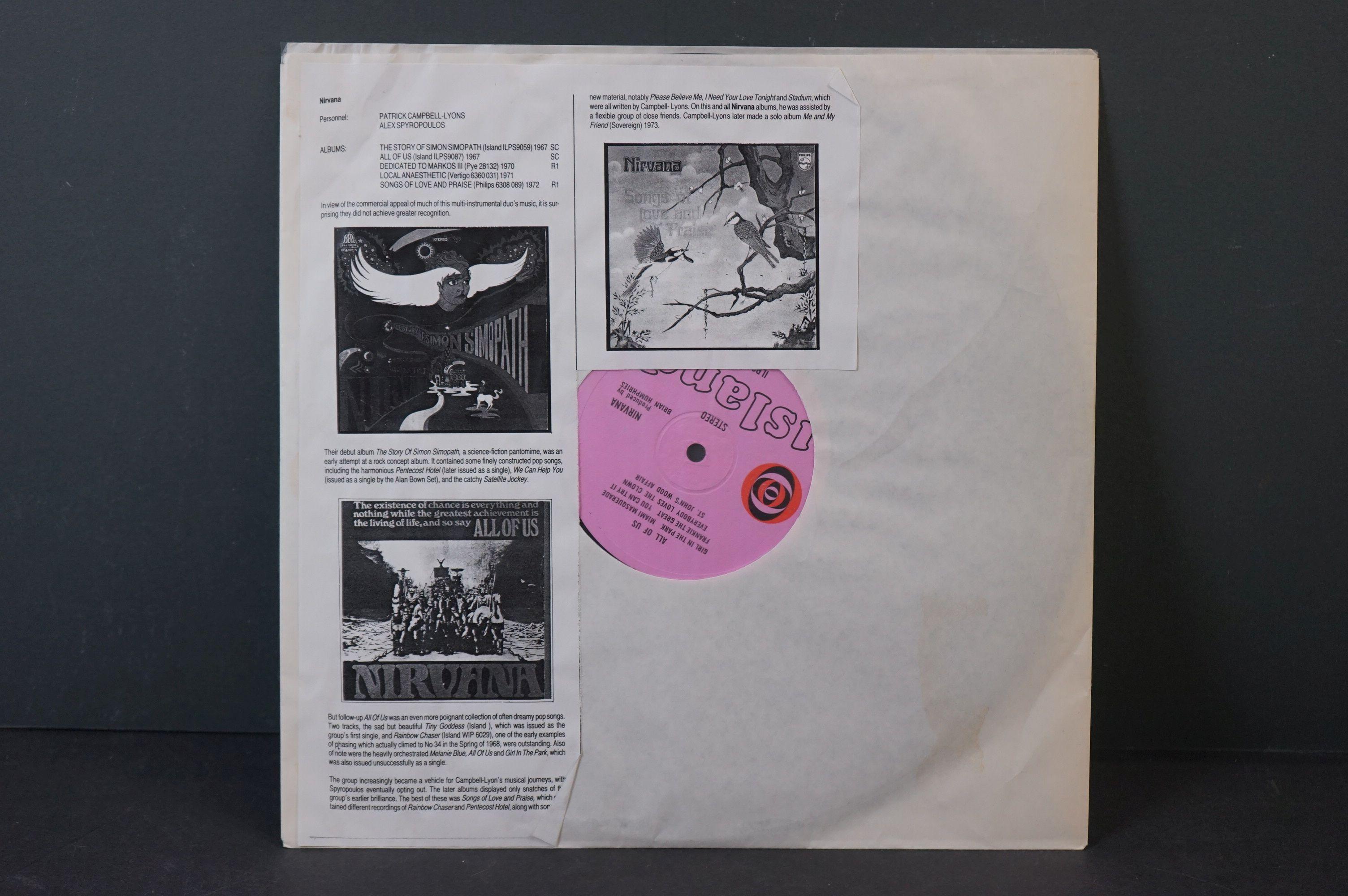 Vinyl - Nirvana All Of Us LP on Island ILPS 9087 with pink label, orange/black circle logo, - Image 6 of 6