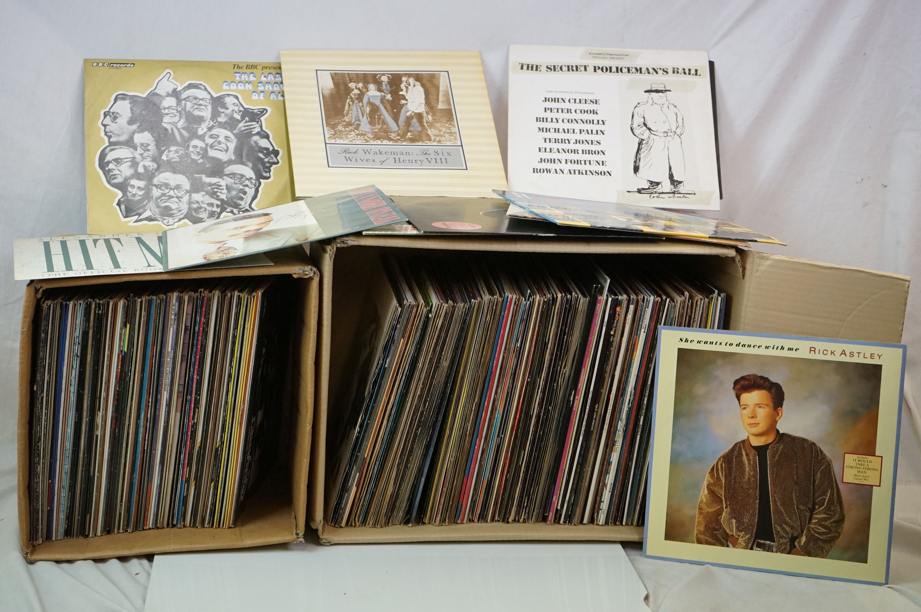 """Vinyl - Approx 150 vinyl LP's and 12"""" Singles mainly rock and pop to include Rick Wakeman, Yes,"""